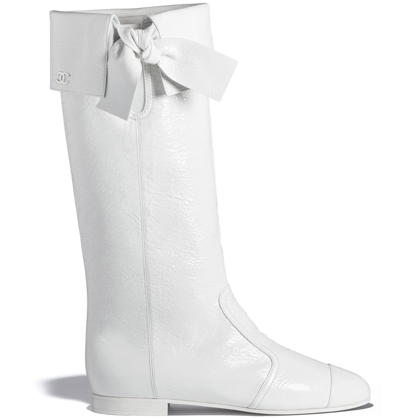 High Boots - White - Crumpled Lambskin - Default view - see standard sized version