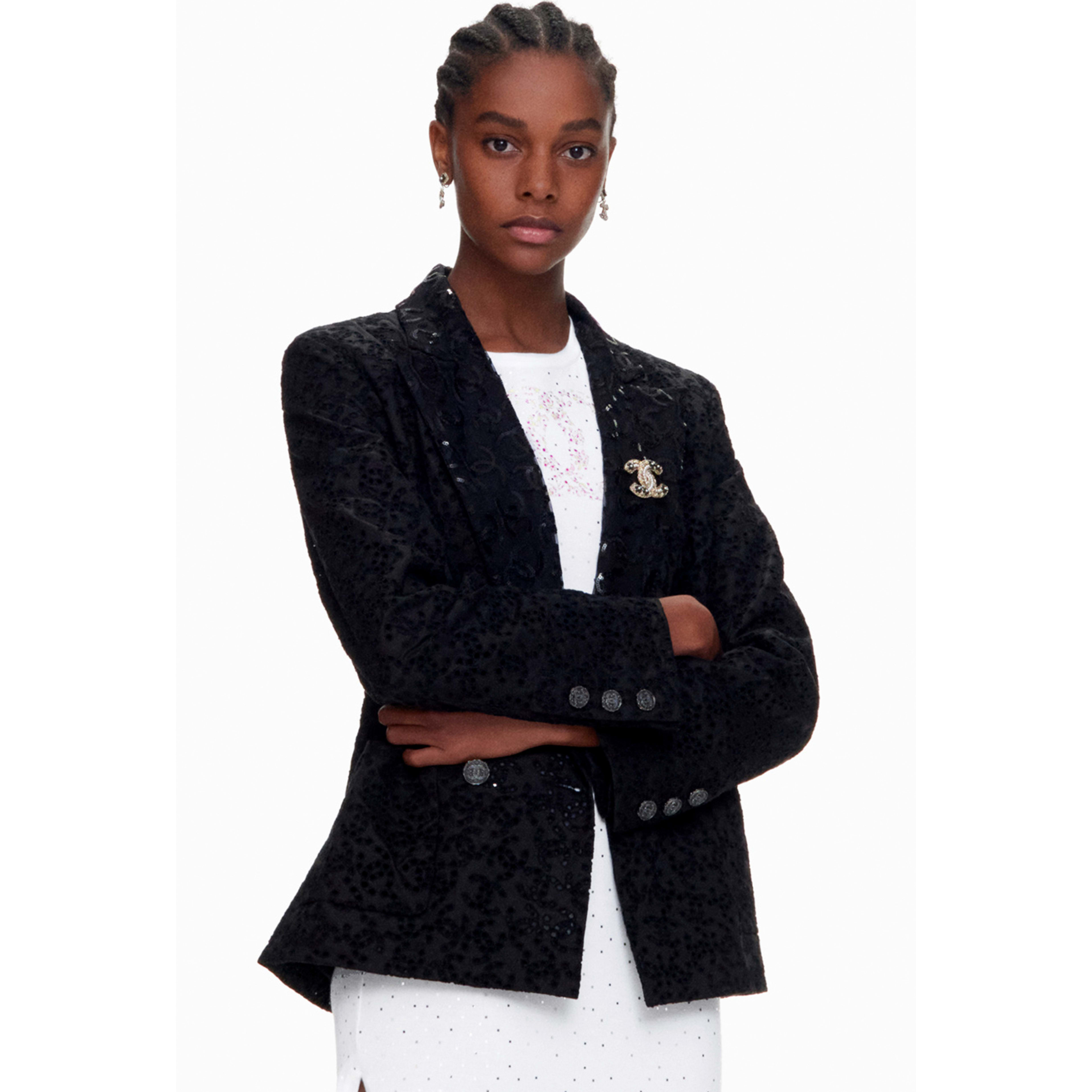 Jacket - Black - Cotton - CHANEL - Default view - see standard sized version