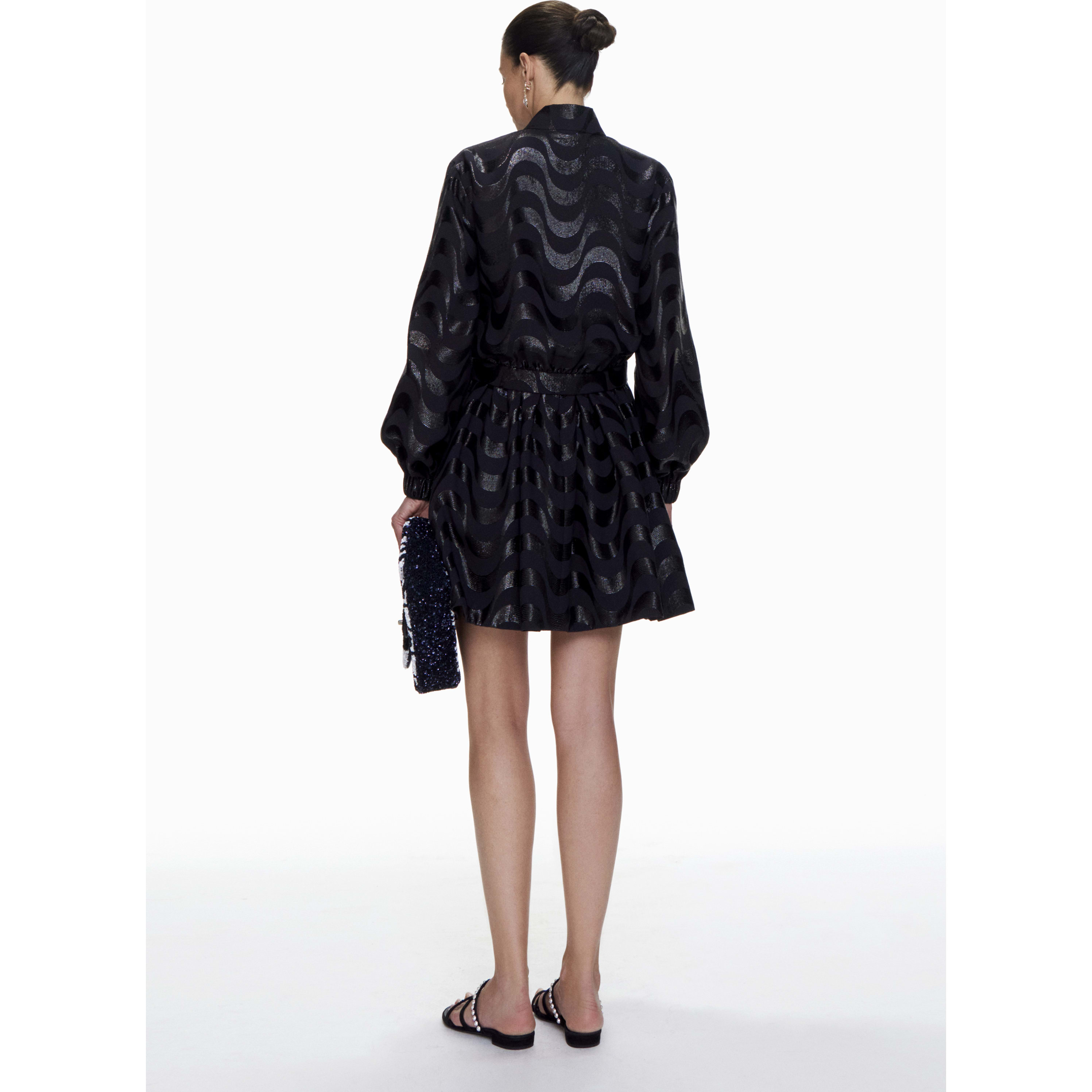 Jacket - Black - Silk & Mixed Fibres - CHANEL - Other view - see standard sized version