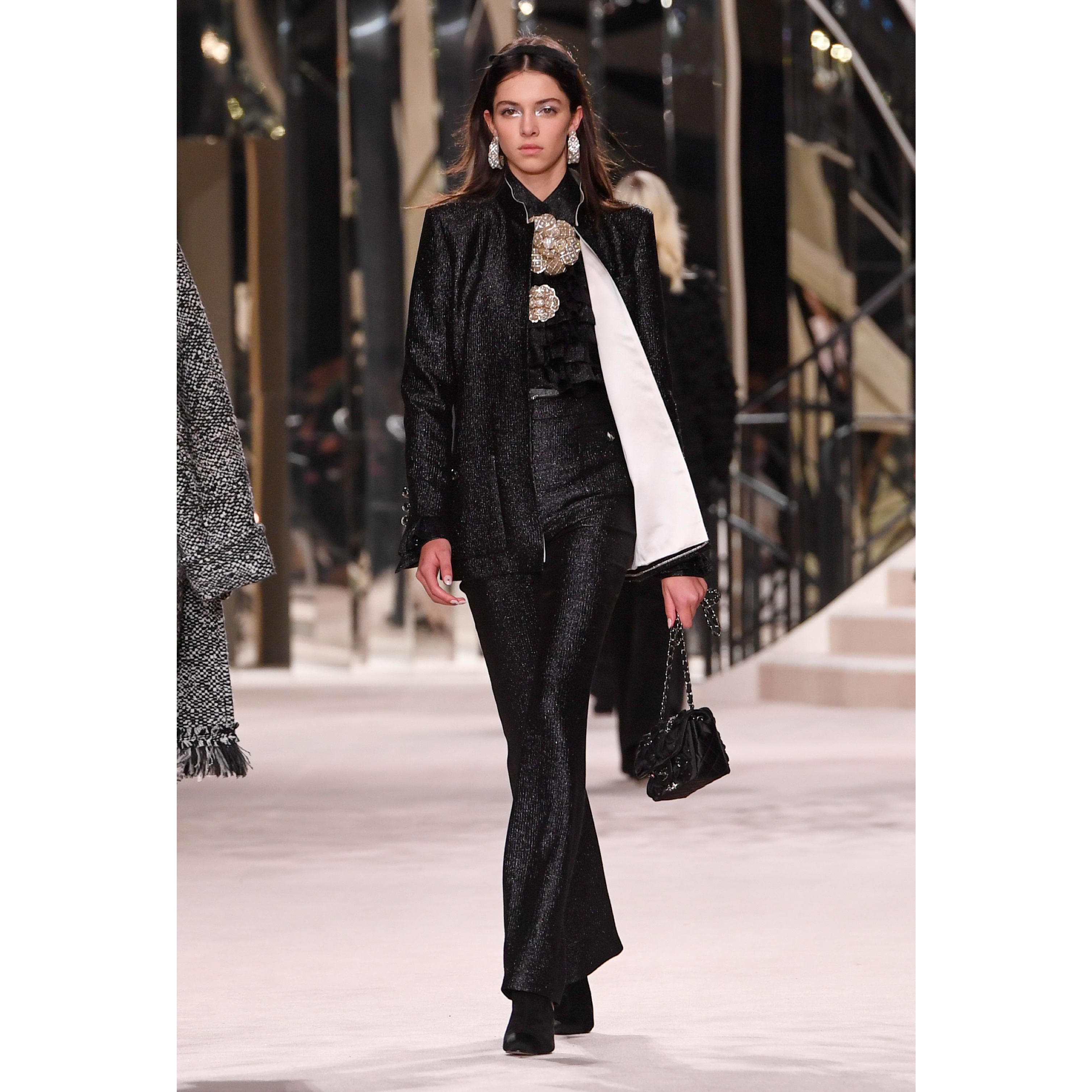 Jacket - Black - Wool, Silk & Metallic Fibers - CHANEL - Default view - see standard sized version