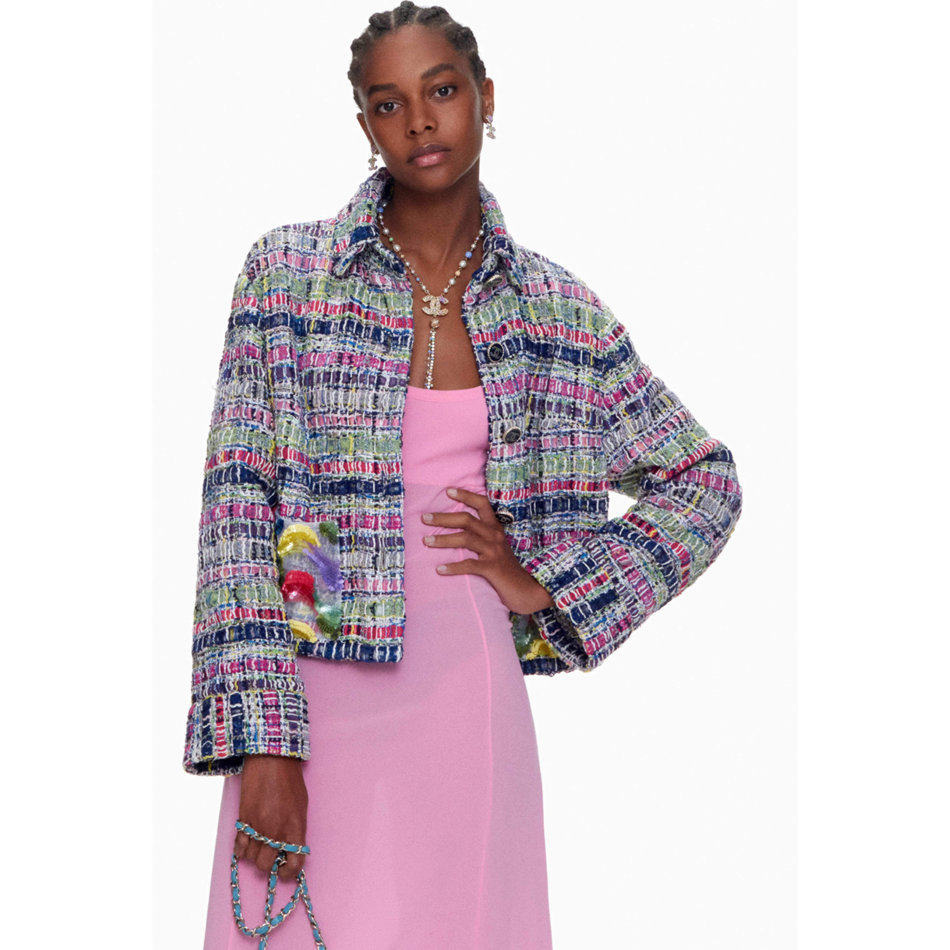 Jacket - Multicolour - Embroidered Cotton & Silk Tweed - CHANEL - Default view - see standard sized version