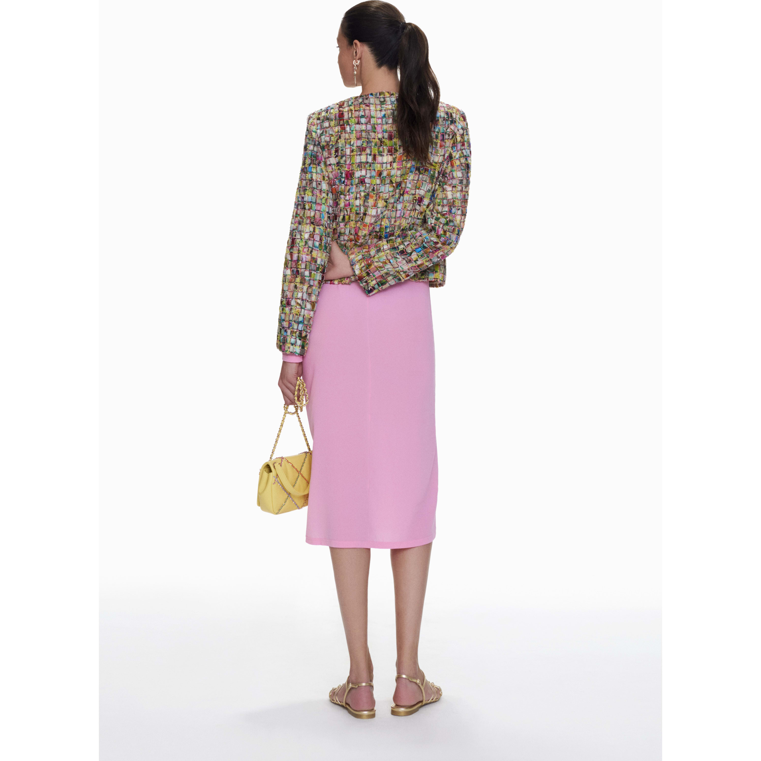 Jacket - Multicolour - Embroidered Cotton Tweed - CHANEL - Other view - see standard sized version