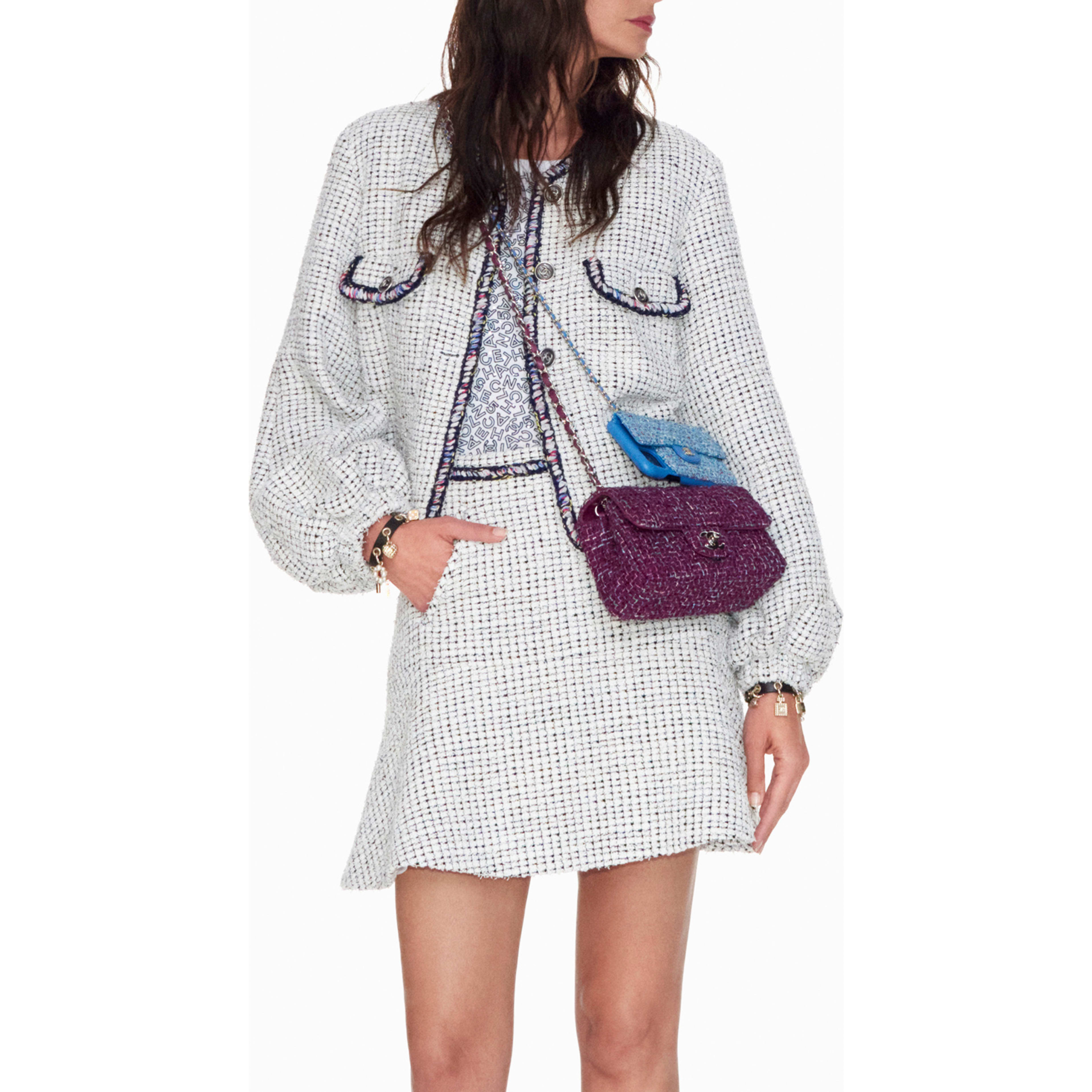 Jacket - White & Black - Tweed - CHANEL - Default view - see standard sized version