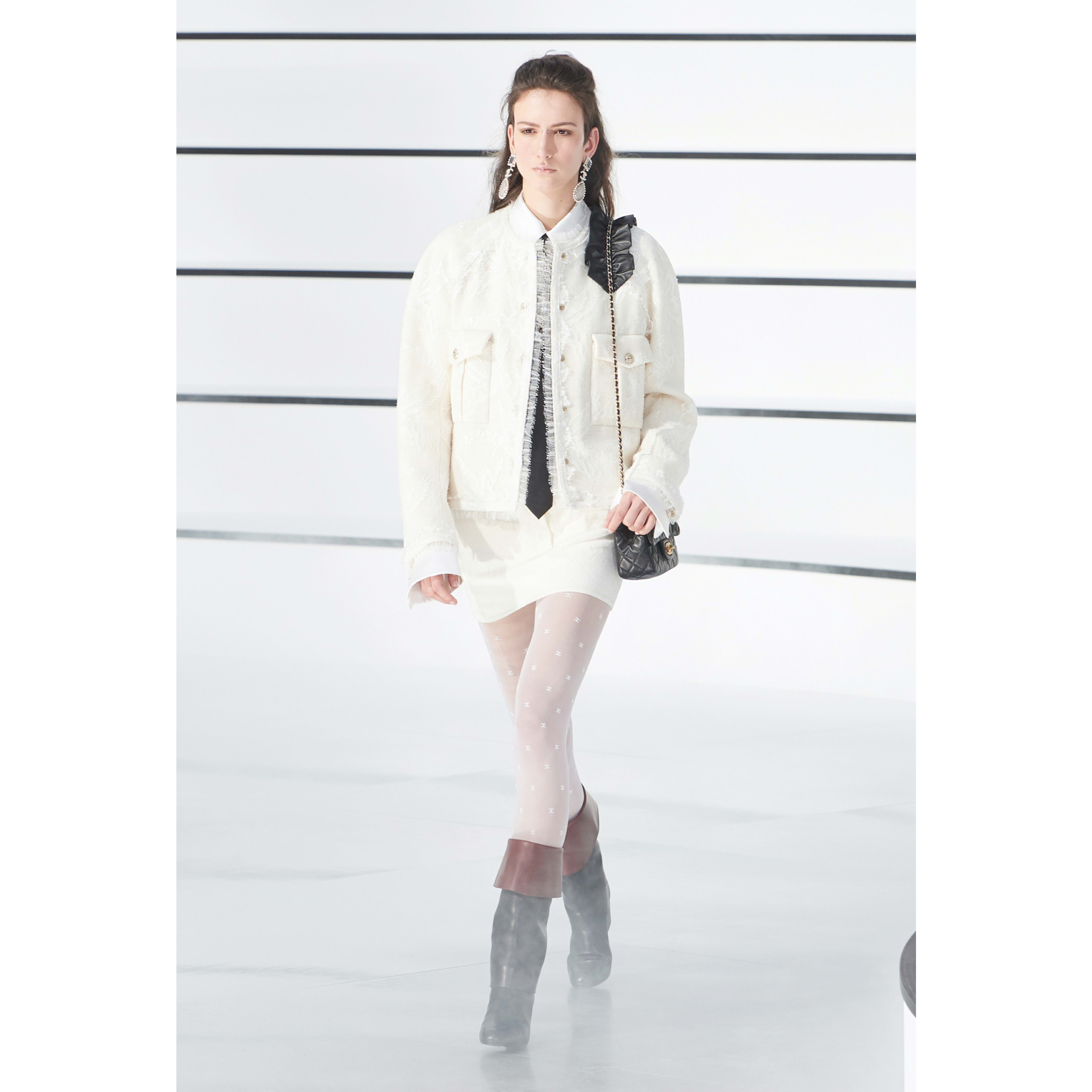 Jacket - White - Lace - CHANEL - Default view - see standard sized version
