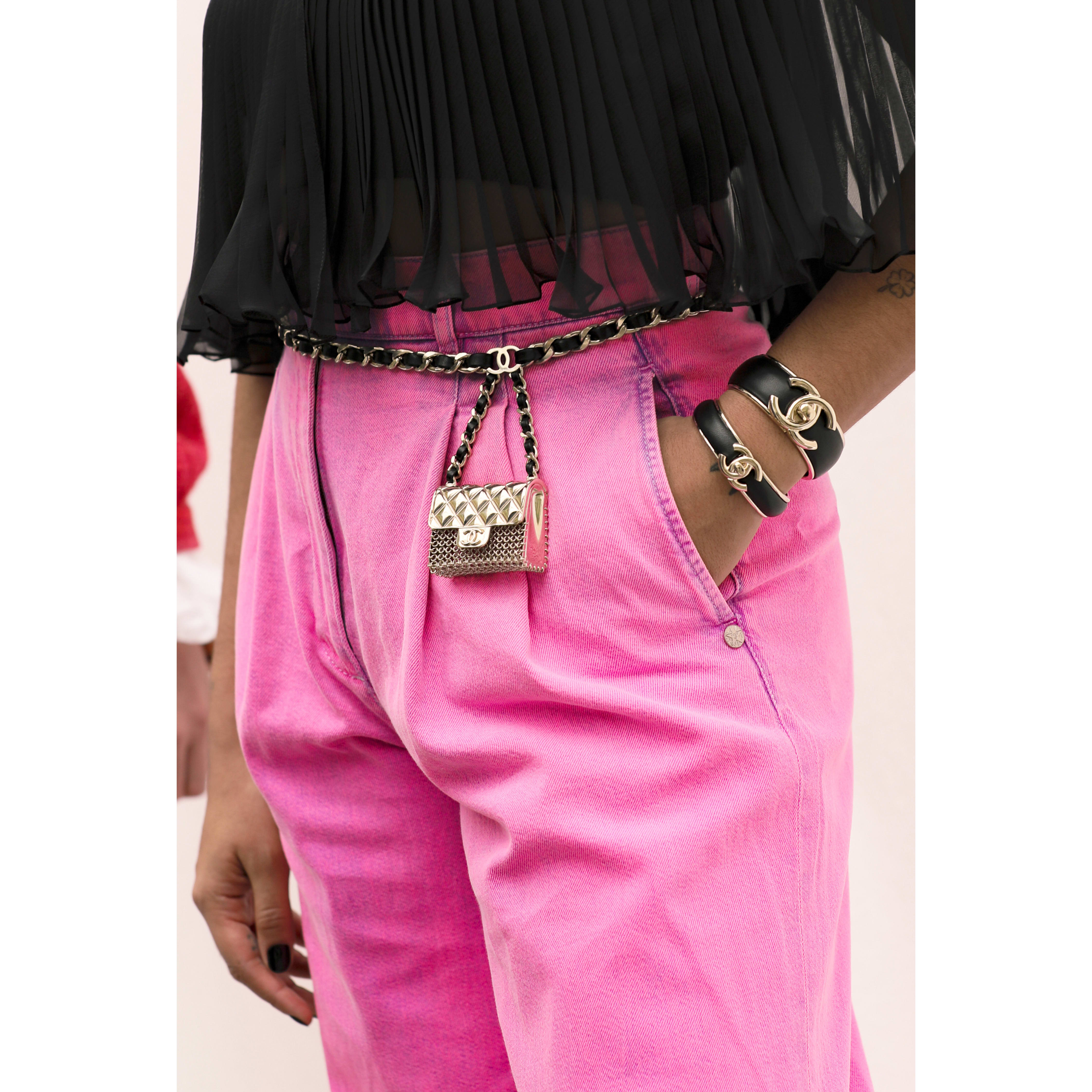 Jeans - Neon Pink - Washed Out Denim - CHANEL - Alternative view - see standard sized version