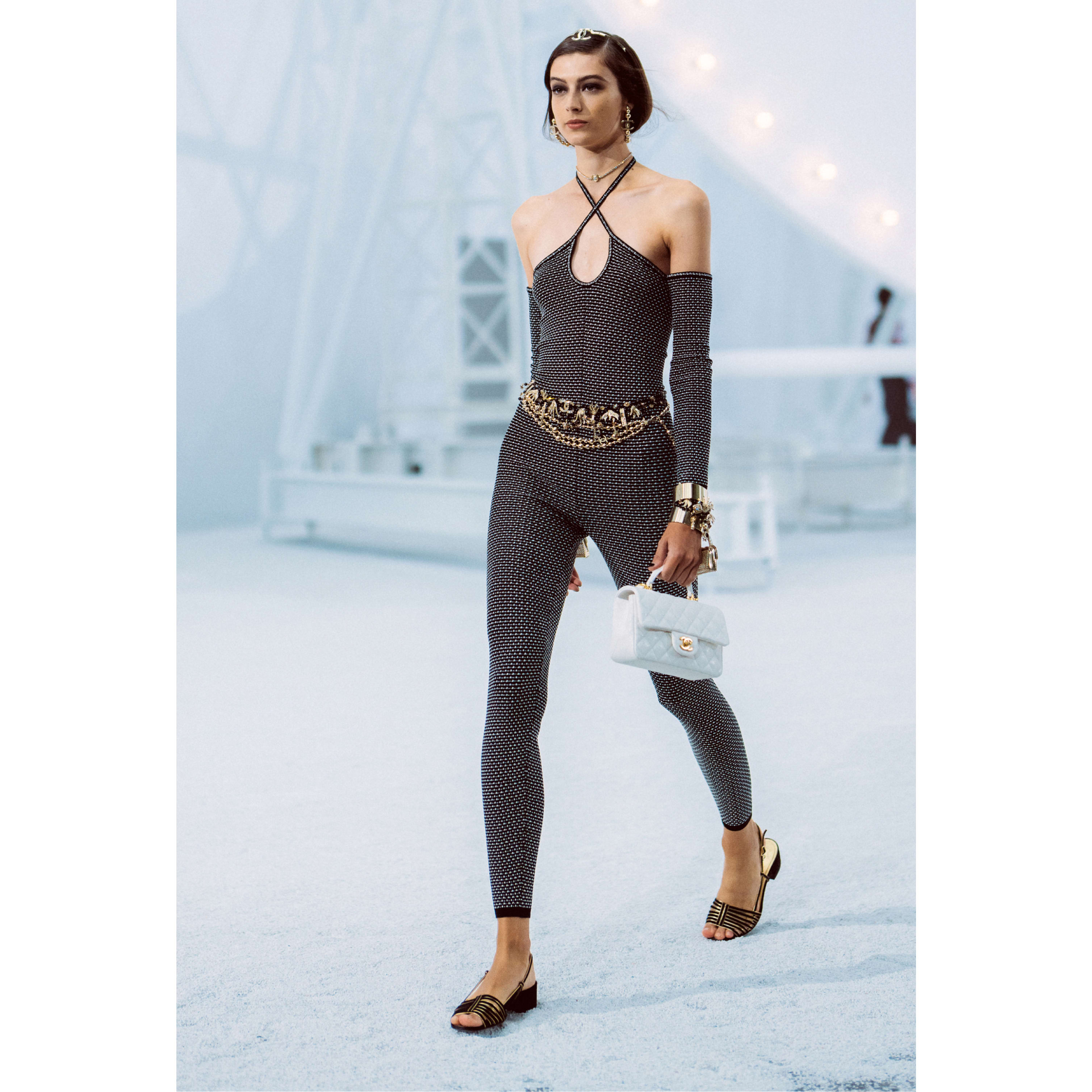 Jumpsuit - Black & Ecru - Silk & Cotton - CHANEL - Default view - see standard sized version