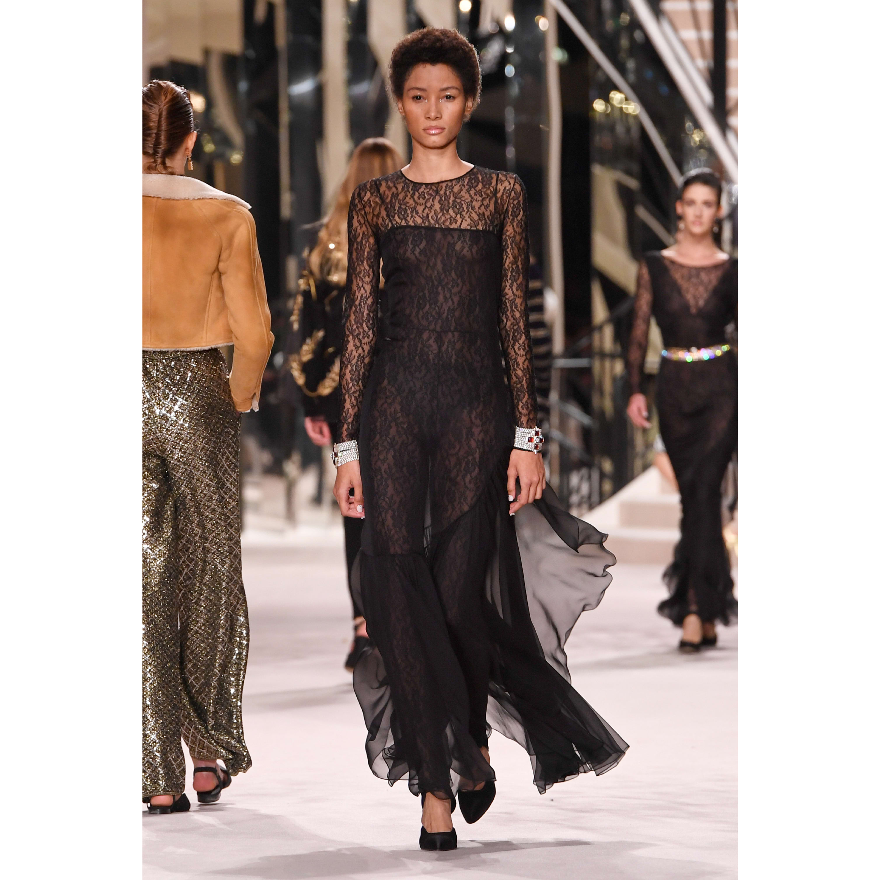 Jumpsuit - Black - Lace - CHANEL - Default view - see standard sized version