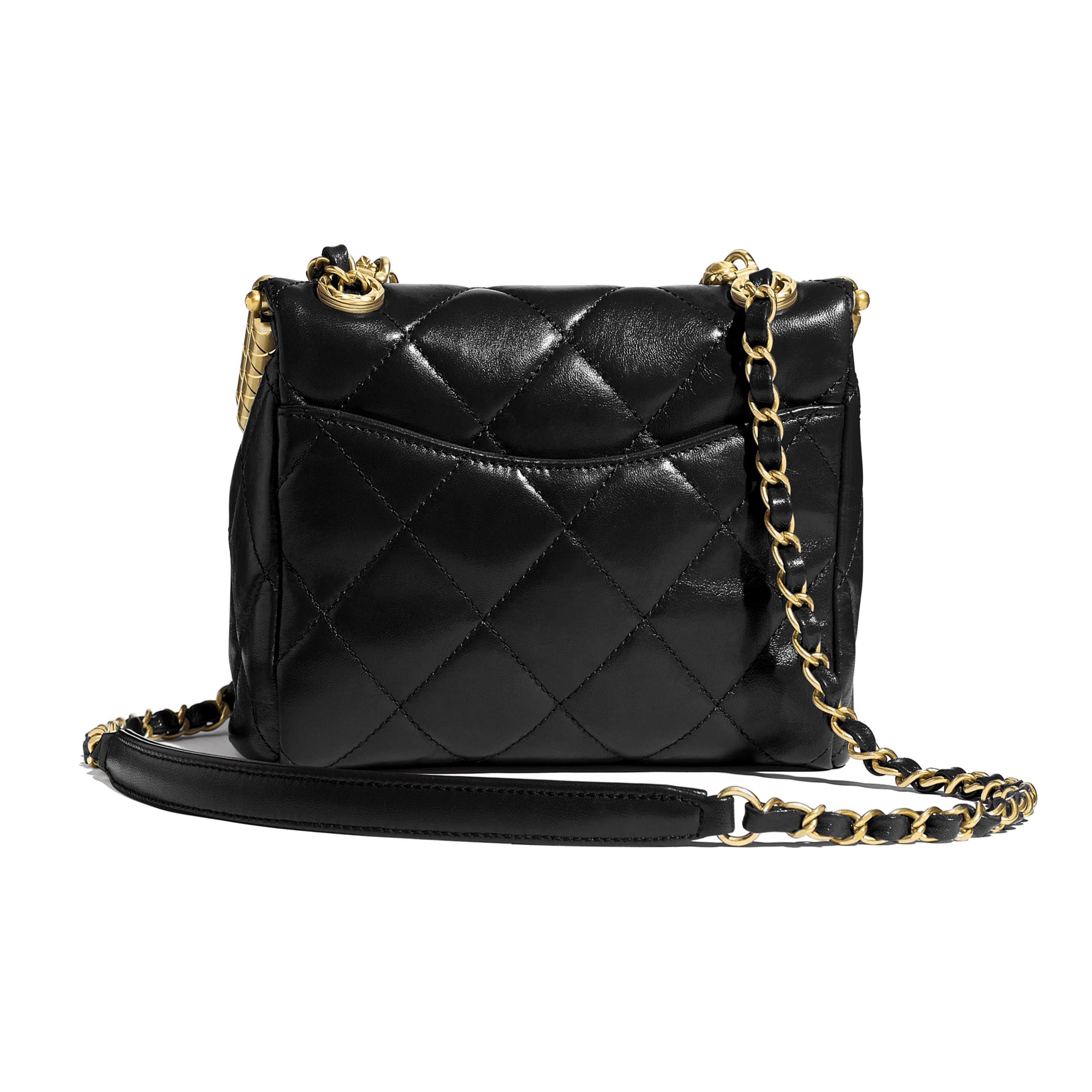 Clasp Bag - Black - Lambskin - CHANEL - Alternative view - see standard sized version