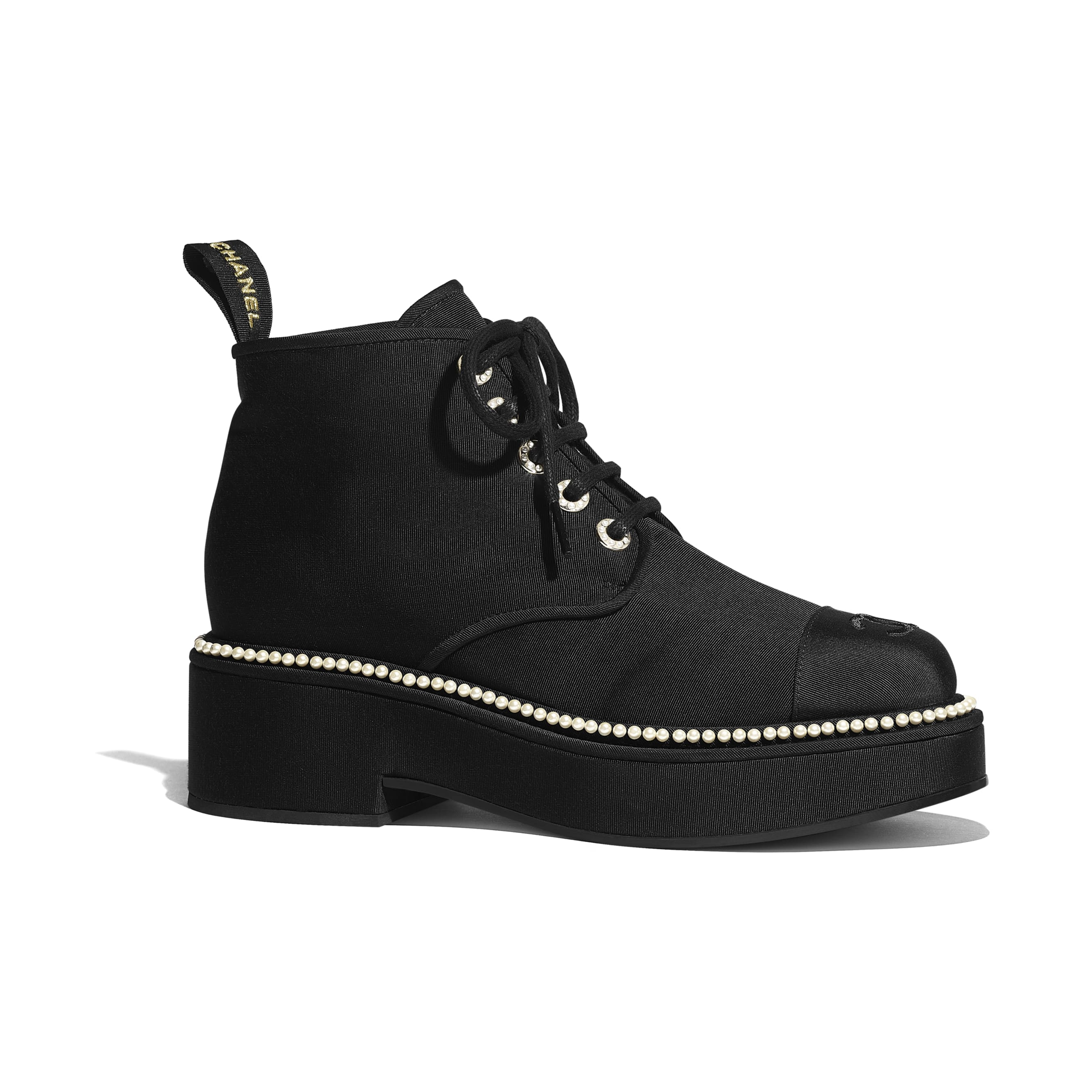 Lace-Ups - Black - Grosgrain - CHANEL - Default view - see standard sized version