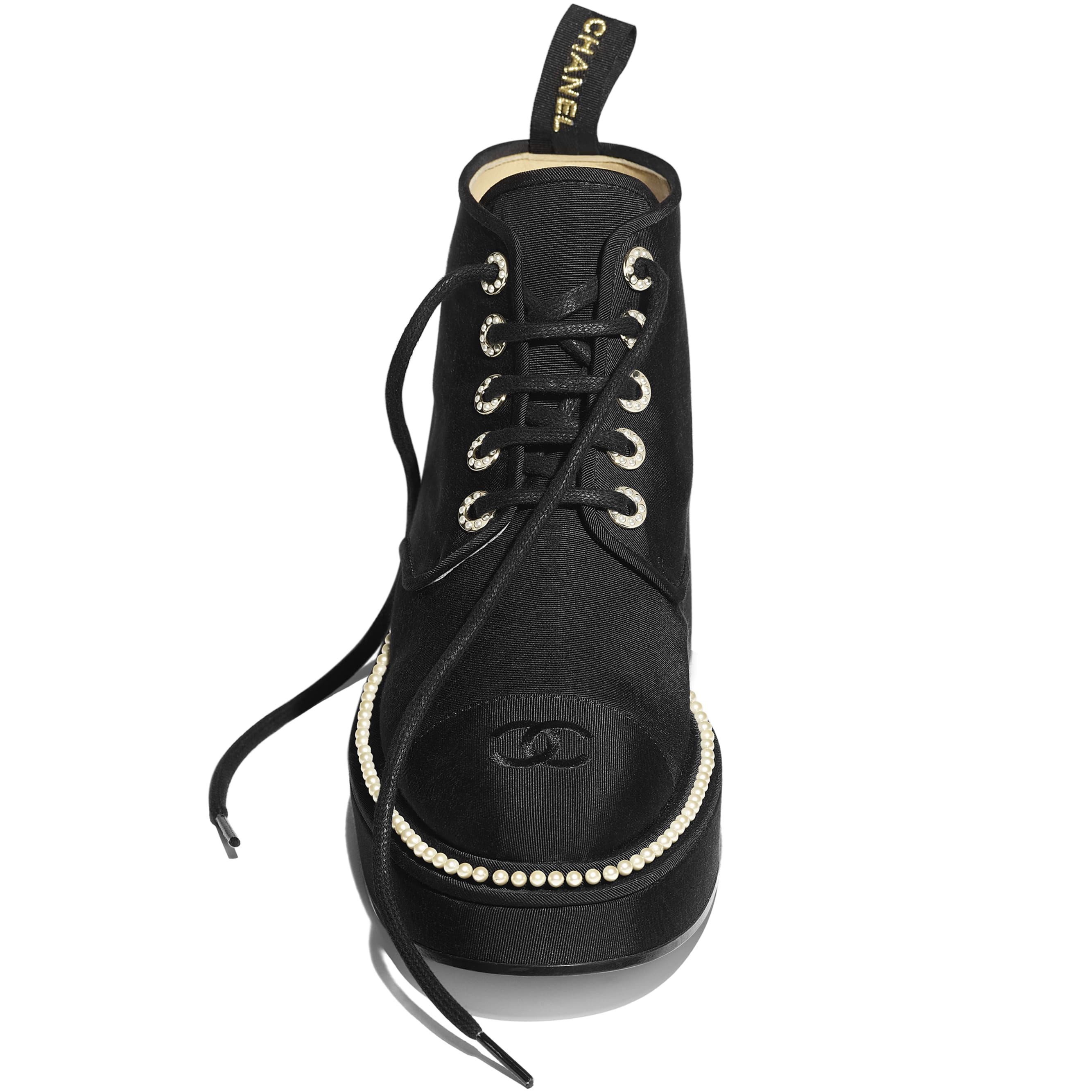 Lace-Ups - Black - Grosgrain - CHANEL - Extra view - see standard sized version
