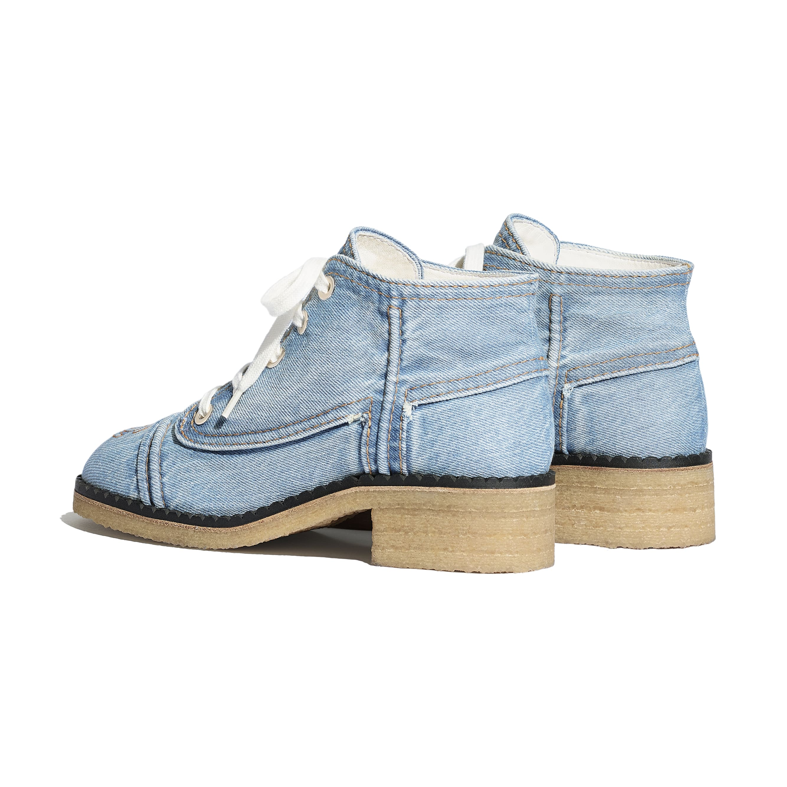 Lace Up - Light Blue - Denim - CHANEL - Other view - see standard sized version