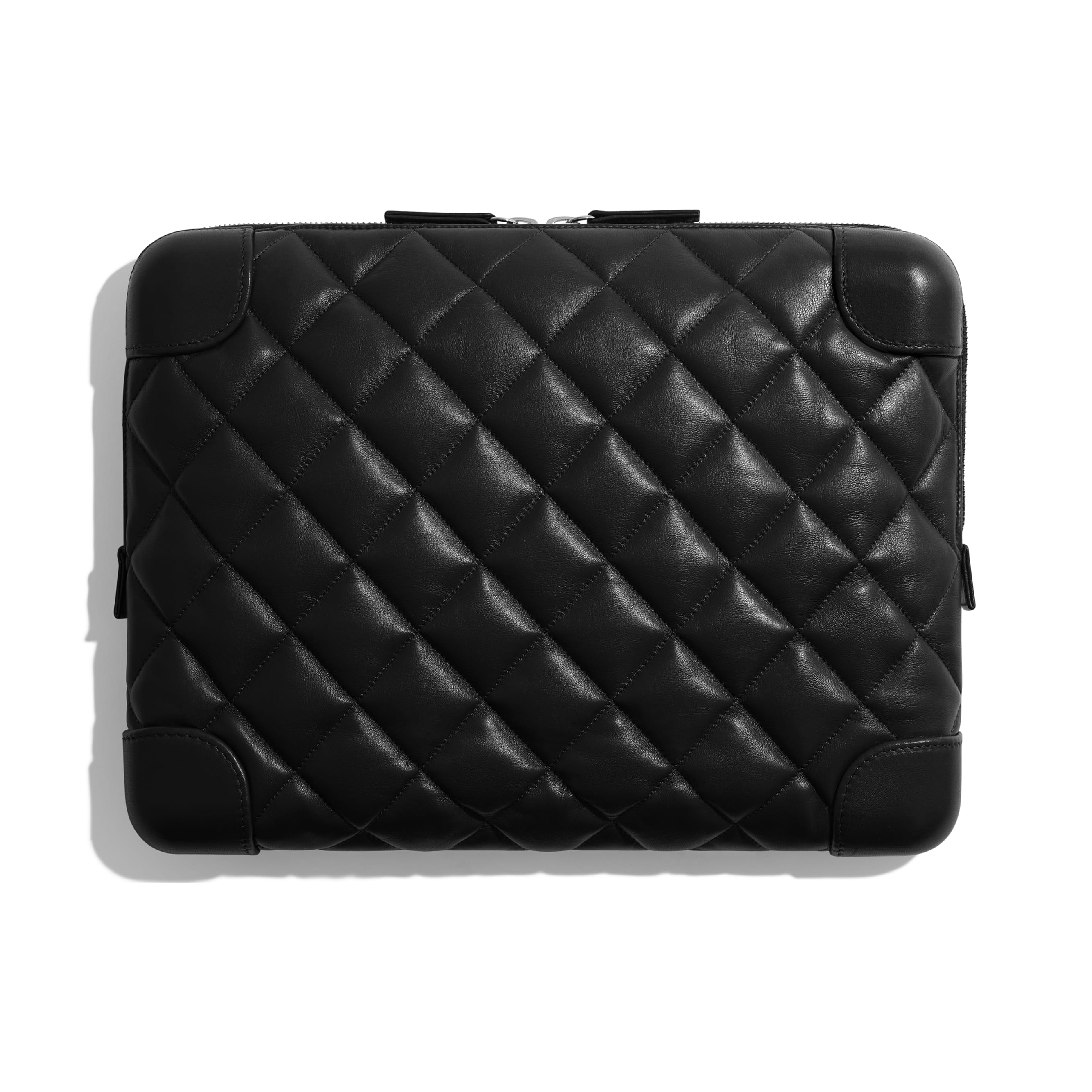 Large Clutch - Black - Lambskin - Alternative view - see standard sized version