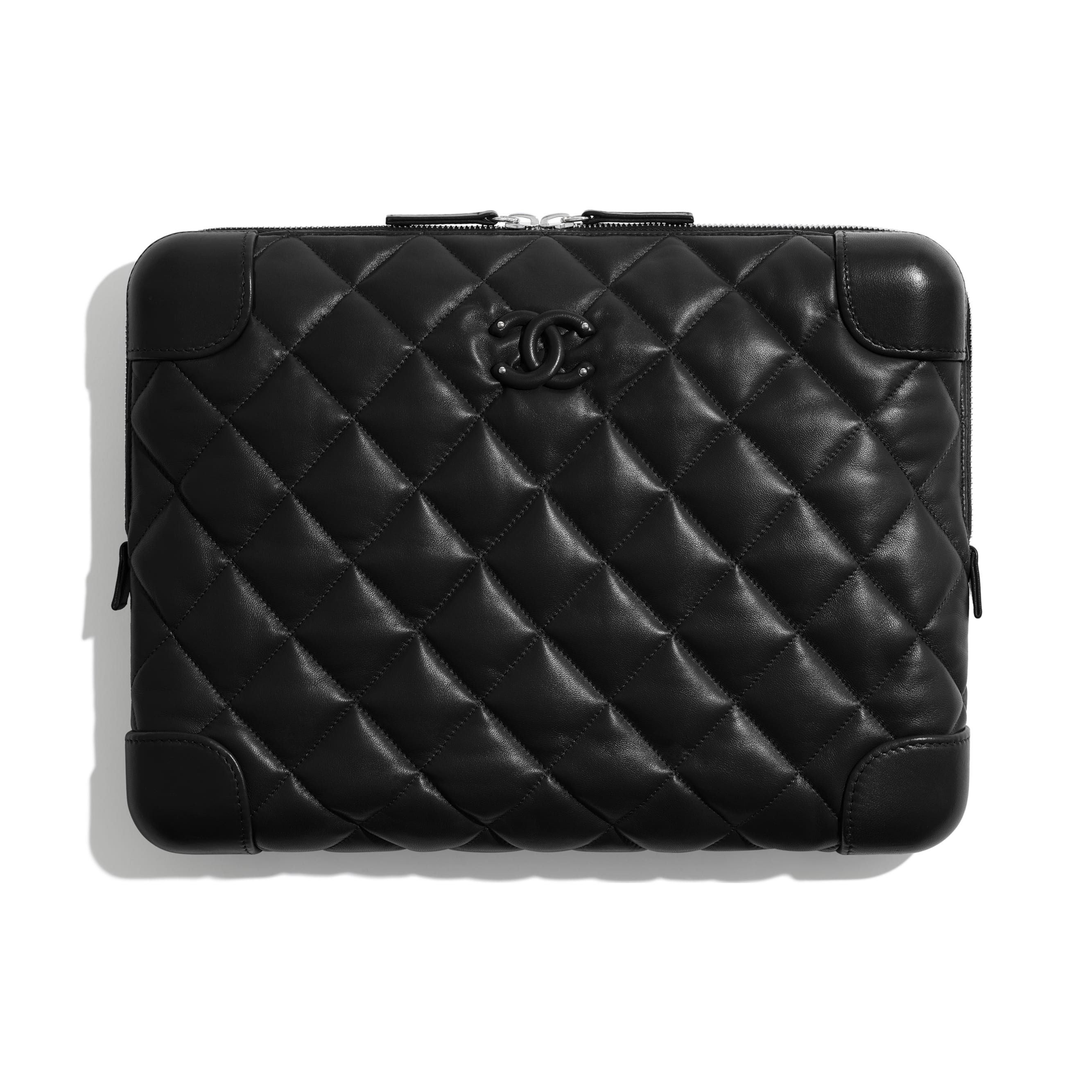 Large Clutch - Black - Lambskin - Default view - see standard sized version