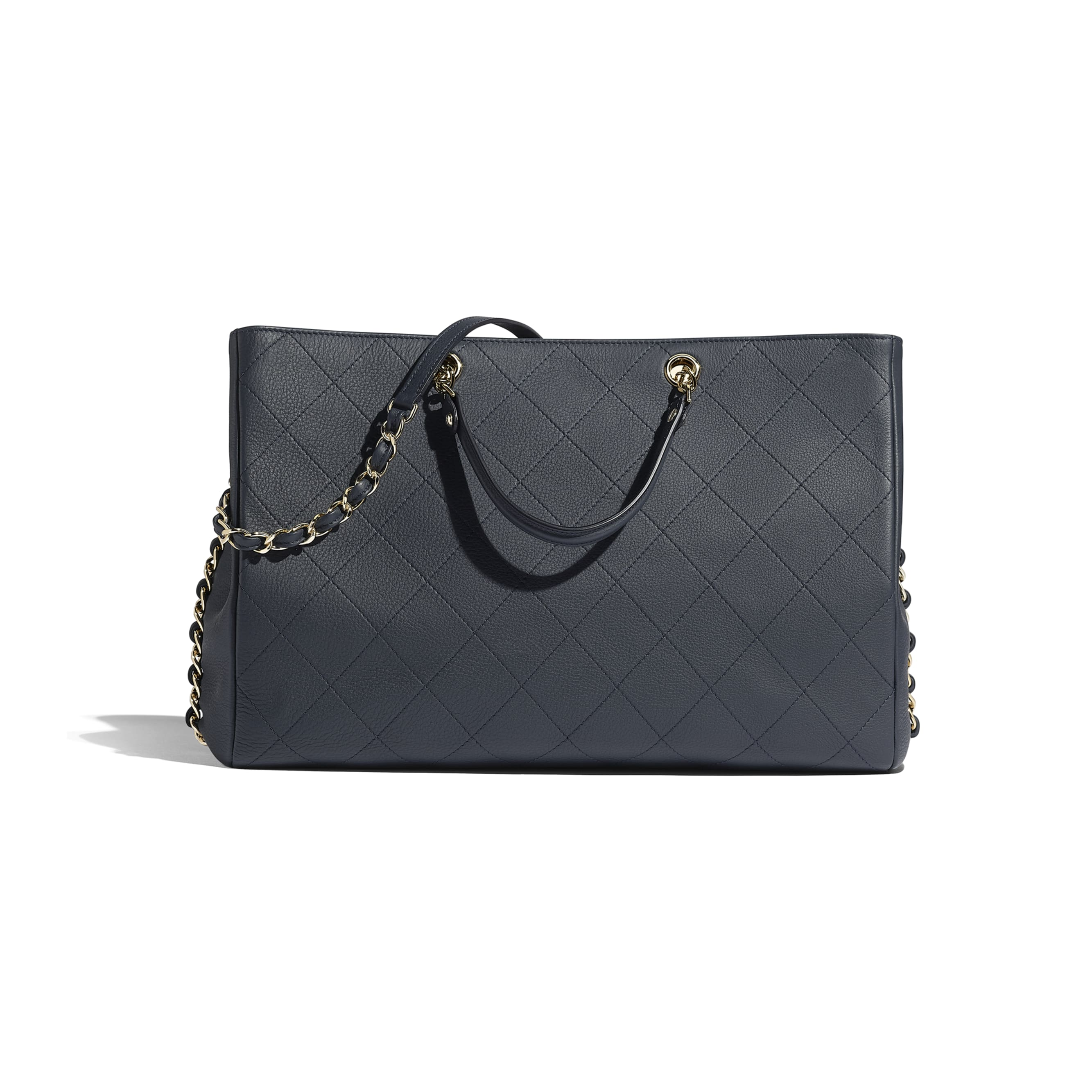 8de108a98ca6 ... Large Shopping Bag - Navy Blue - Bullskin   Gold-Tone Metal -  Alternative view