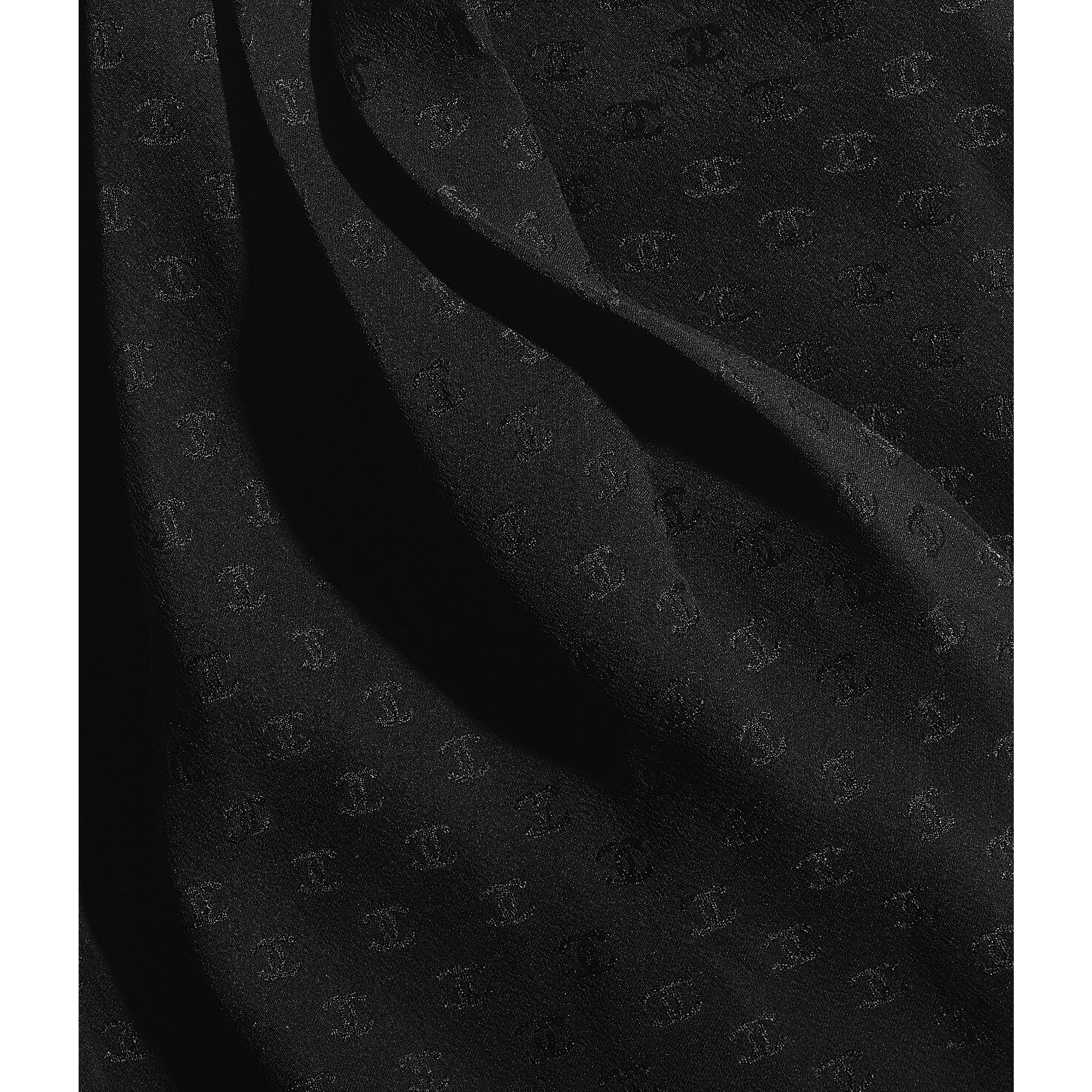 Lavaliere - Black - Silk Crepe - CHANEL - Other view - see standard sized version
