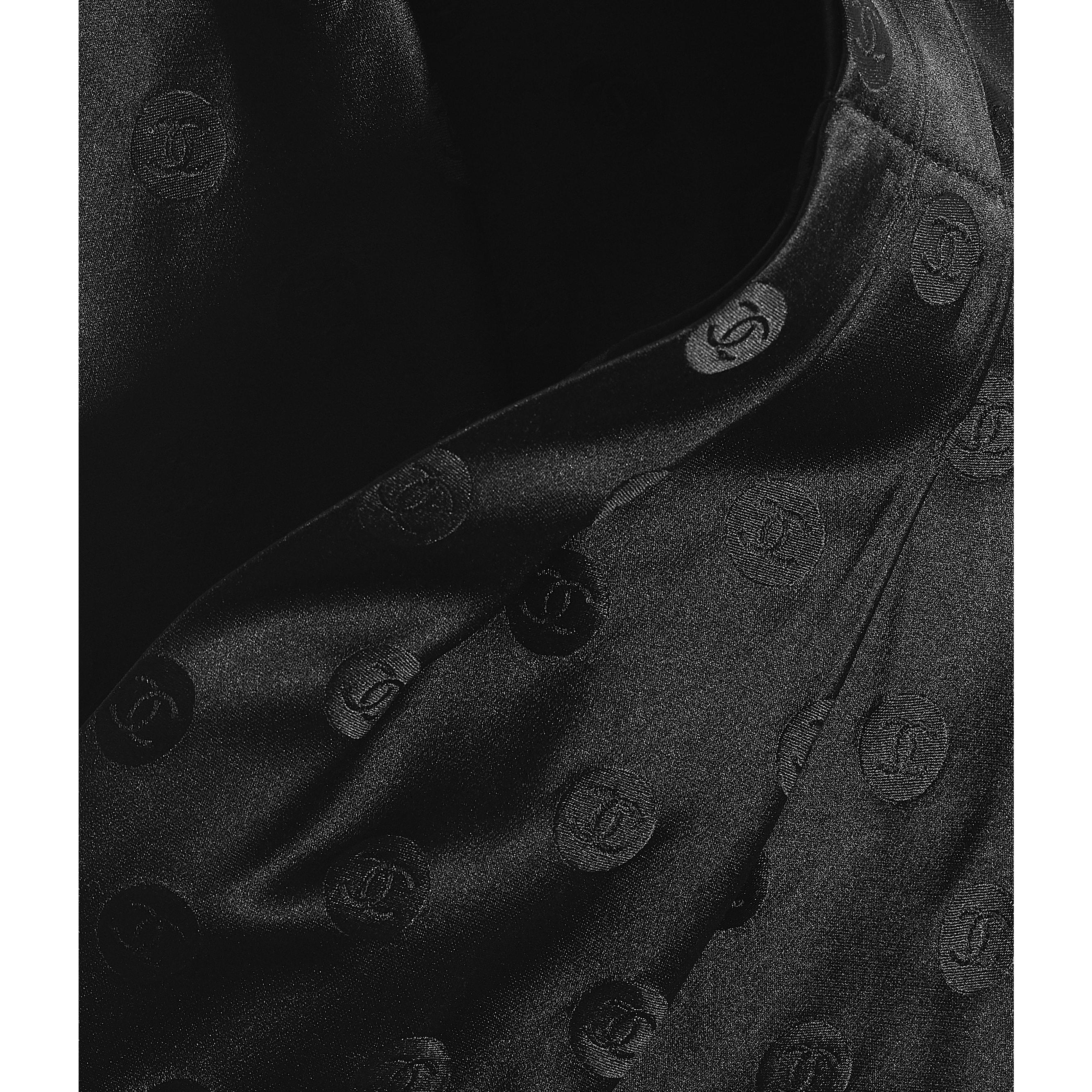 Шарф-лавальер - Черный - Шелковая жаккардовая ткань - CHANEL - Другое изображение - посмотреть изображение стандартного размера