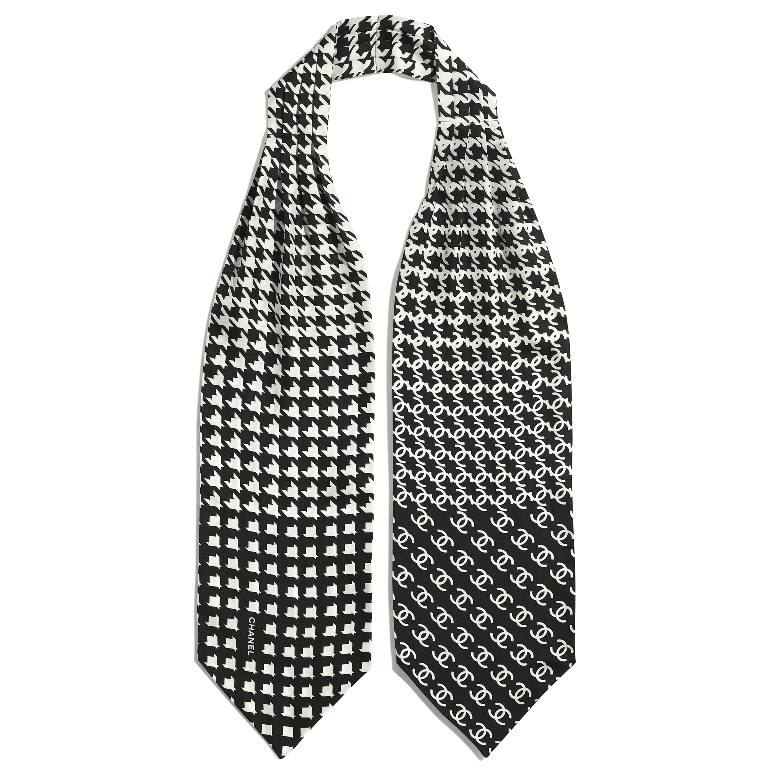 Lavaliere - Black & White - Silk Twill - CHANEL - Alternative view - see standard sized version