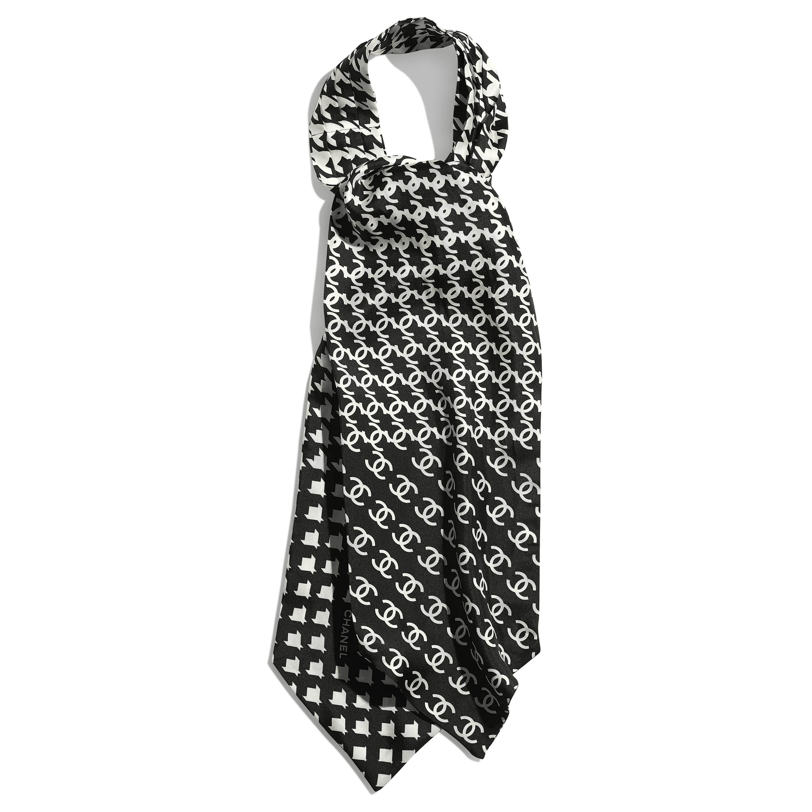Lavaliere - Black & White - Silk Twill - CHANEL - Default view - see standard sized version