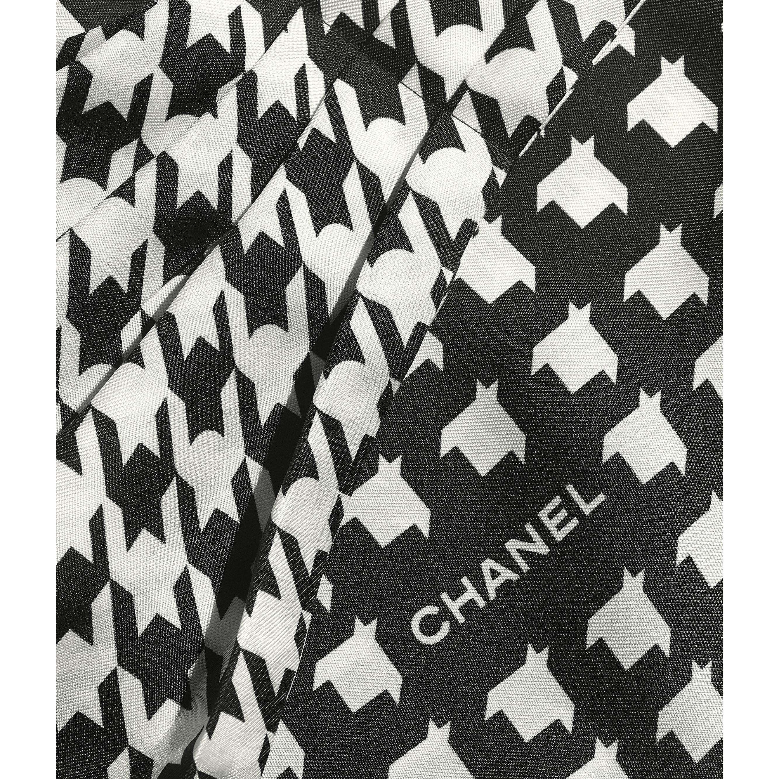 Lavaliere - Black & White - Silk Twill - CHANEL - Other view - see standard sized version
