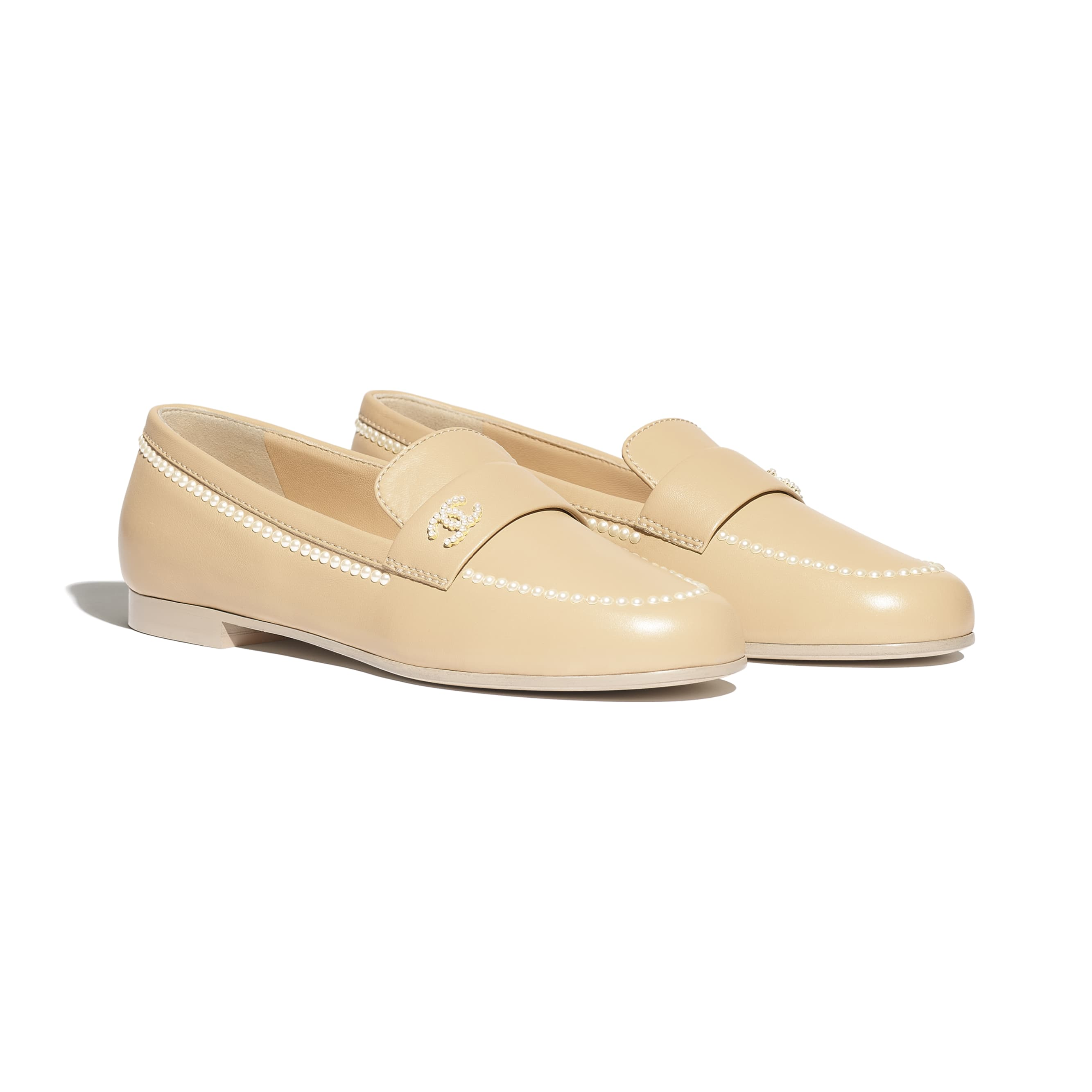 Loafers - Beige - Lambskin - Alternative view - see standard sized version