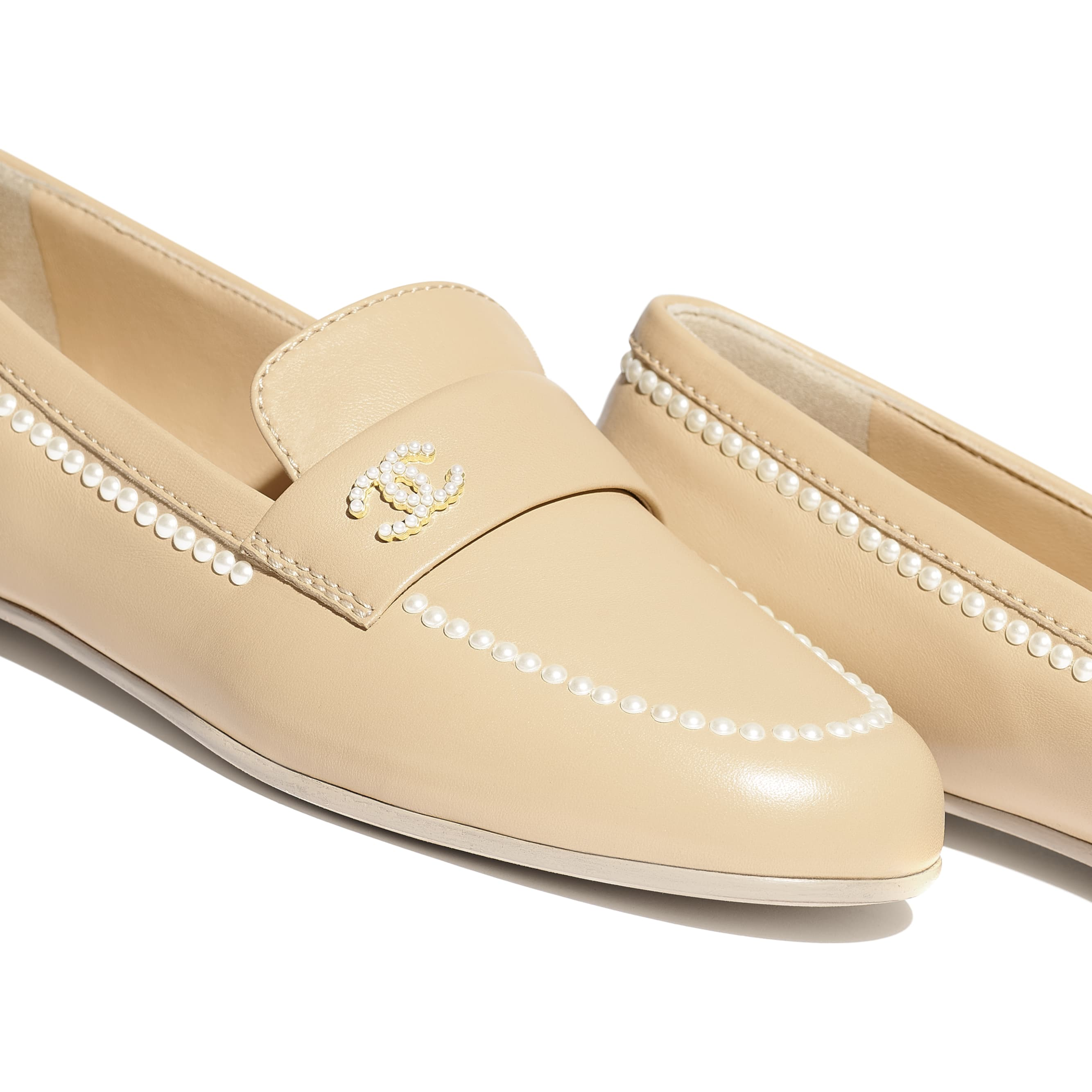 Loafers - Beige - Lambskin - Extra view - see standard sized version