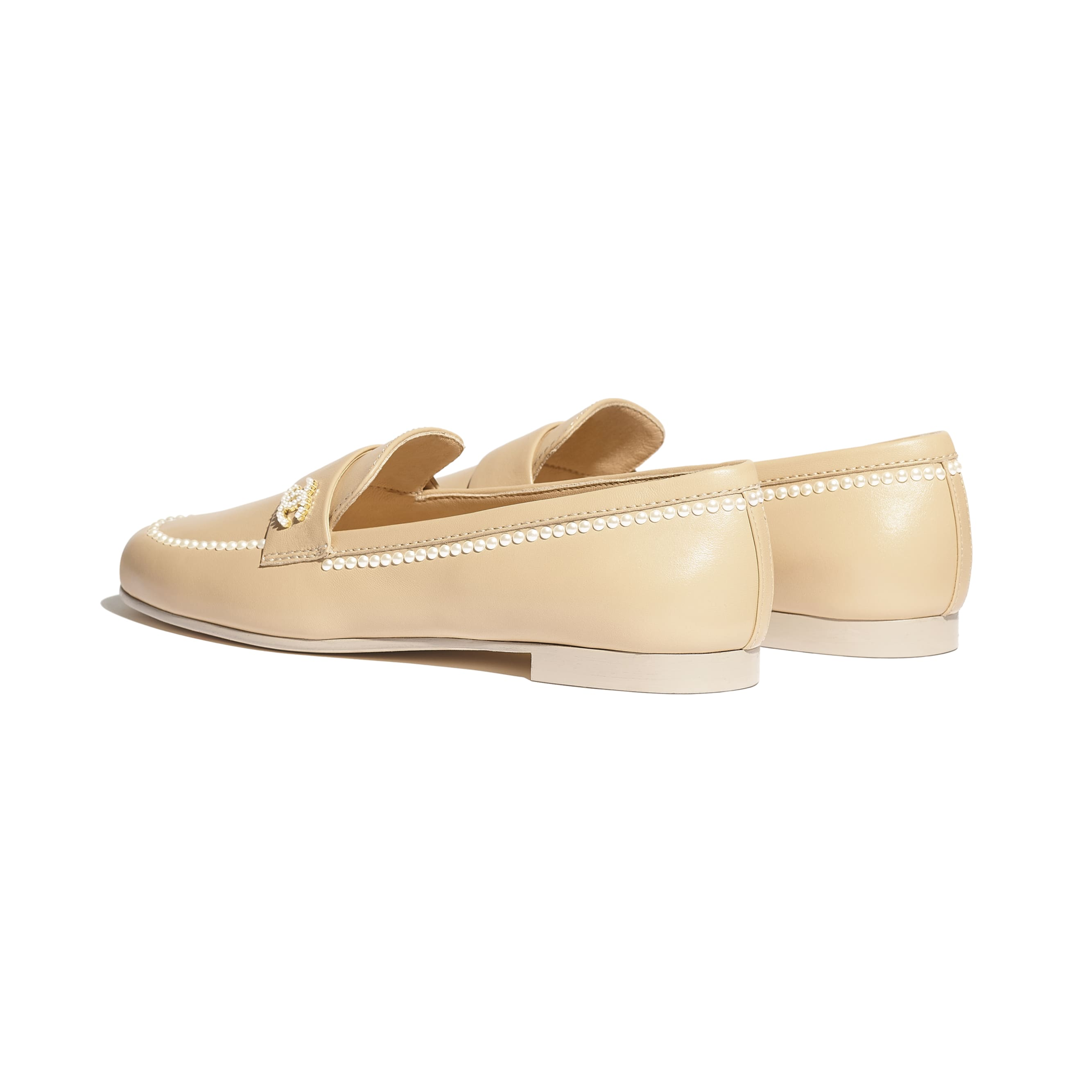 Loafers - Beige - Lambskin - Other view - see standard sized version
