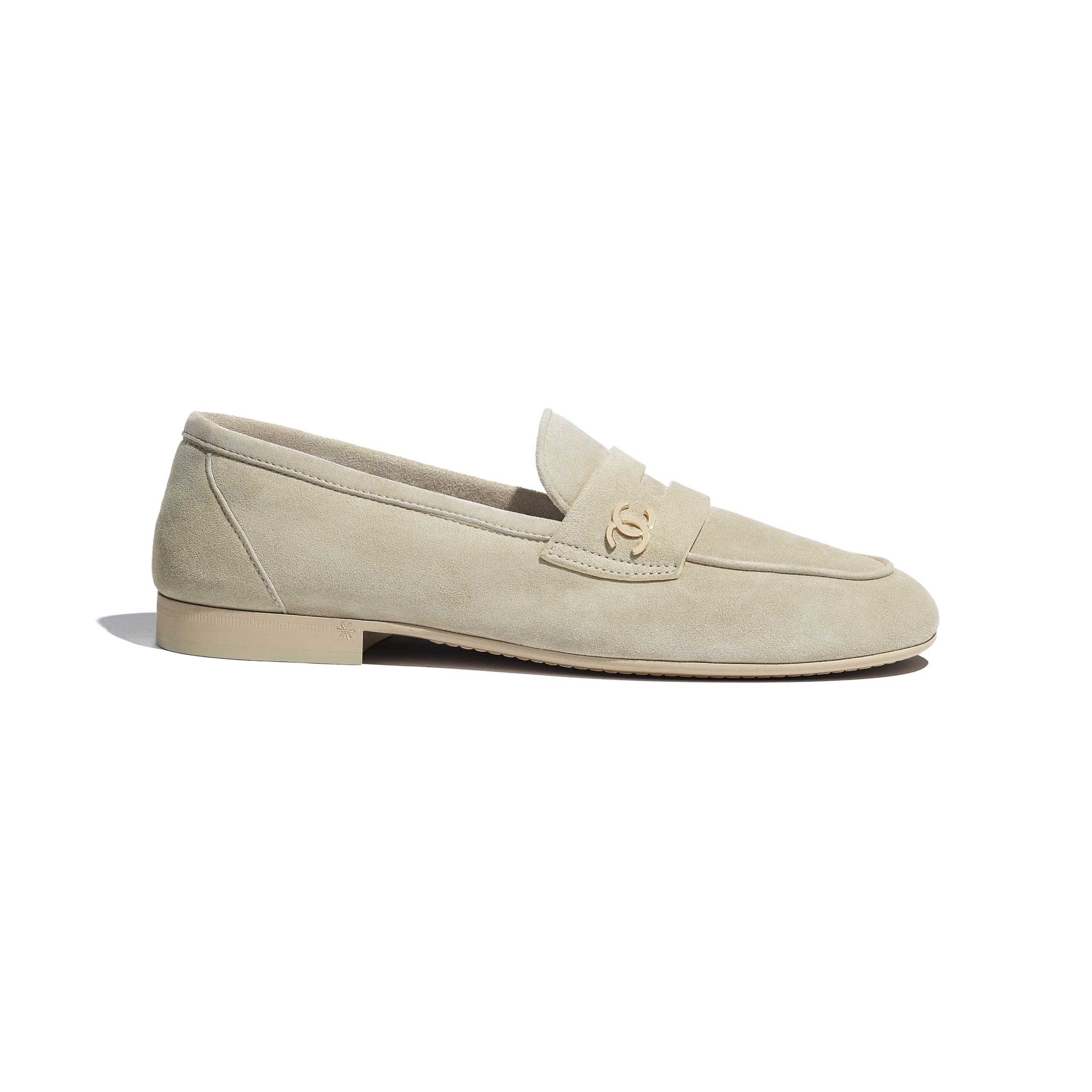 Loafers - Beige - Suede Calfskin - CHANEL - Default view - see standard sized version