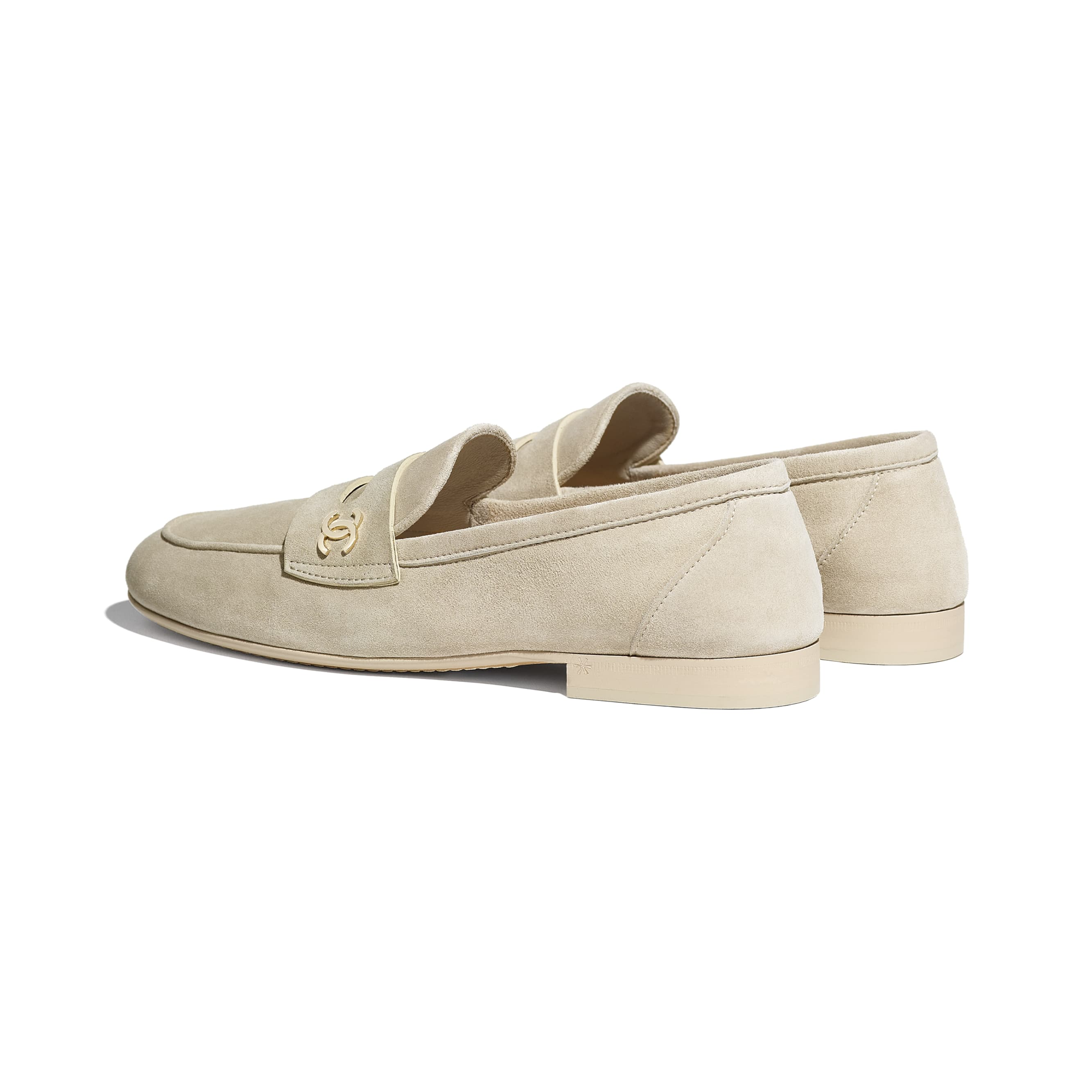 Loafers - Beige - Suede Calfskin - CHANEL - Other view - see standard sized version