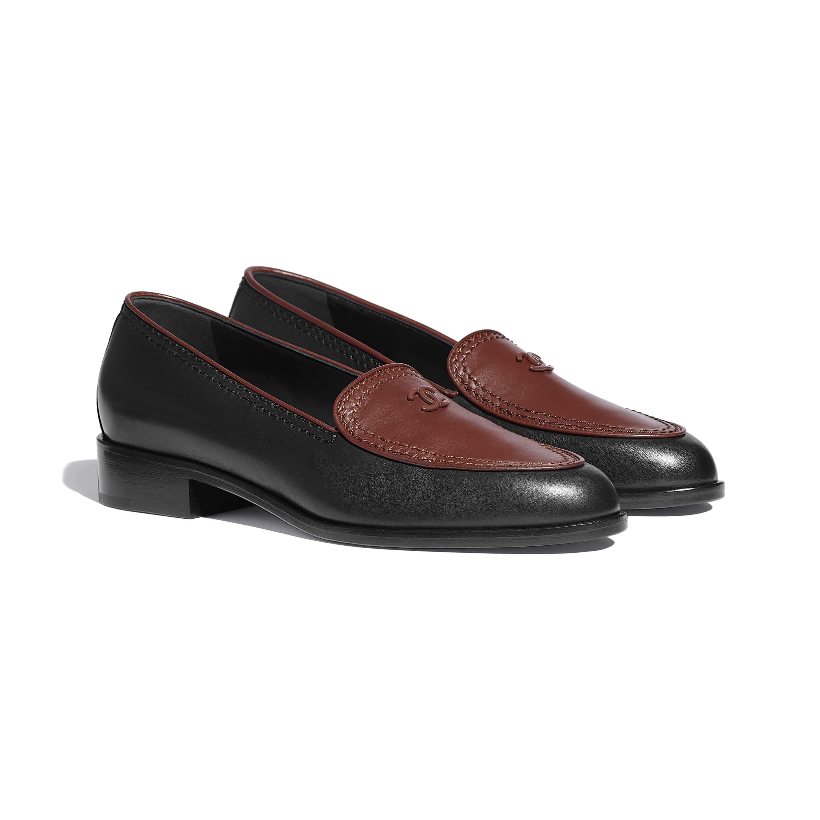 Mocassins - Noir & marron - Veau - CHANEL - Vue alternative - voir la version taille standard