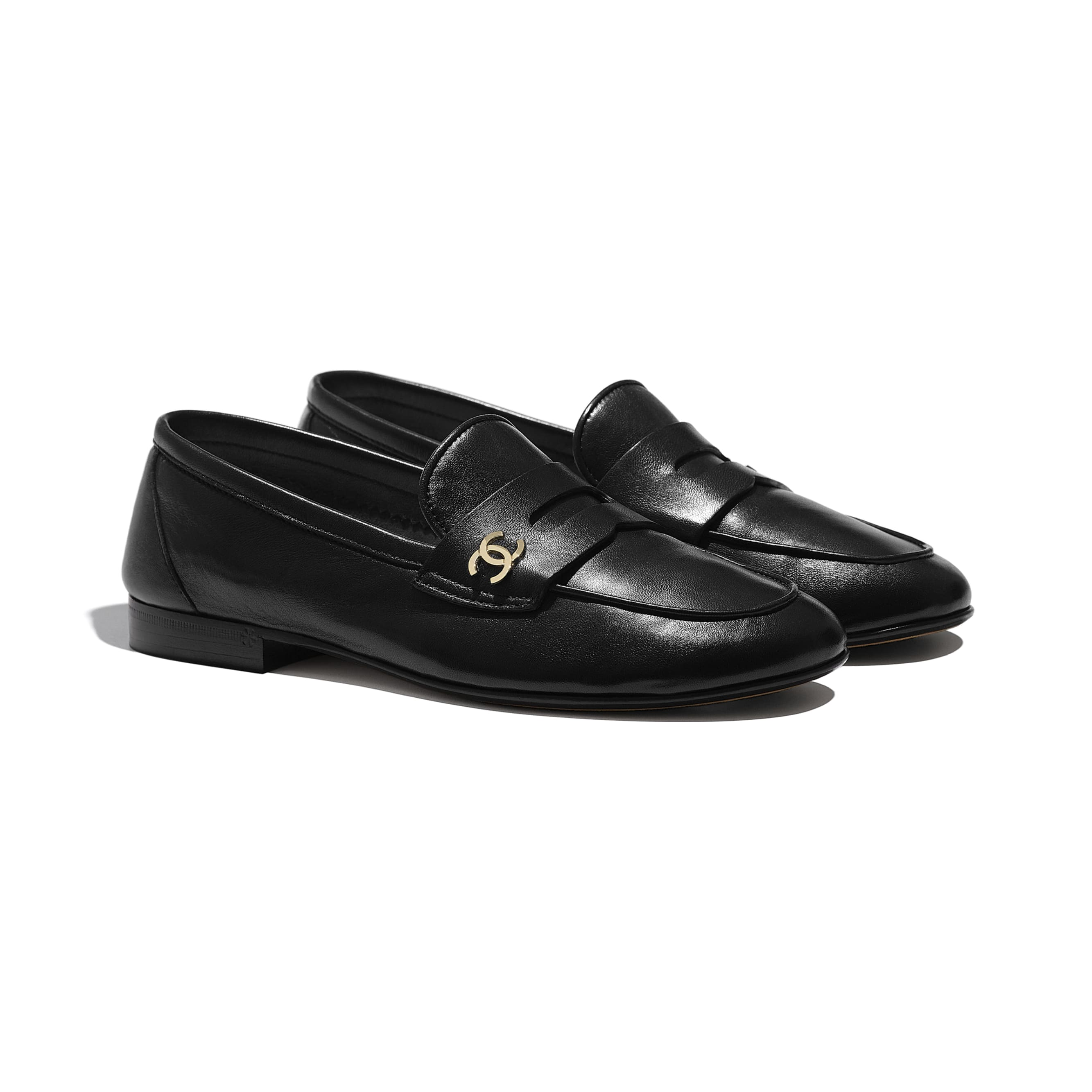 Loafers - Black - Lambskin - CHANEL - Alternative view - see standard sized version