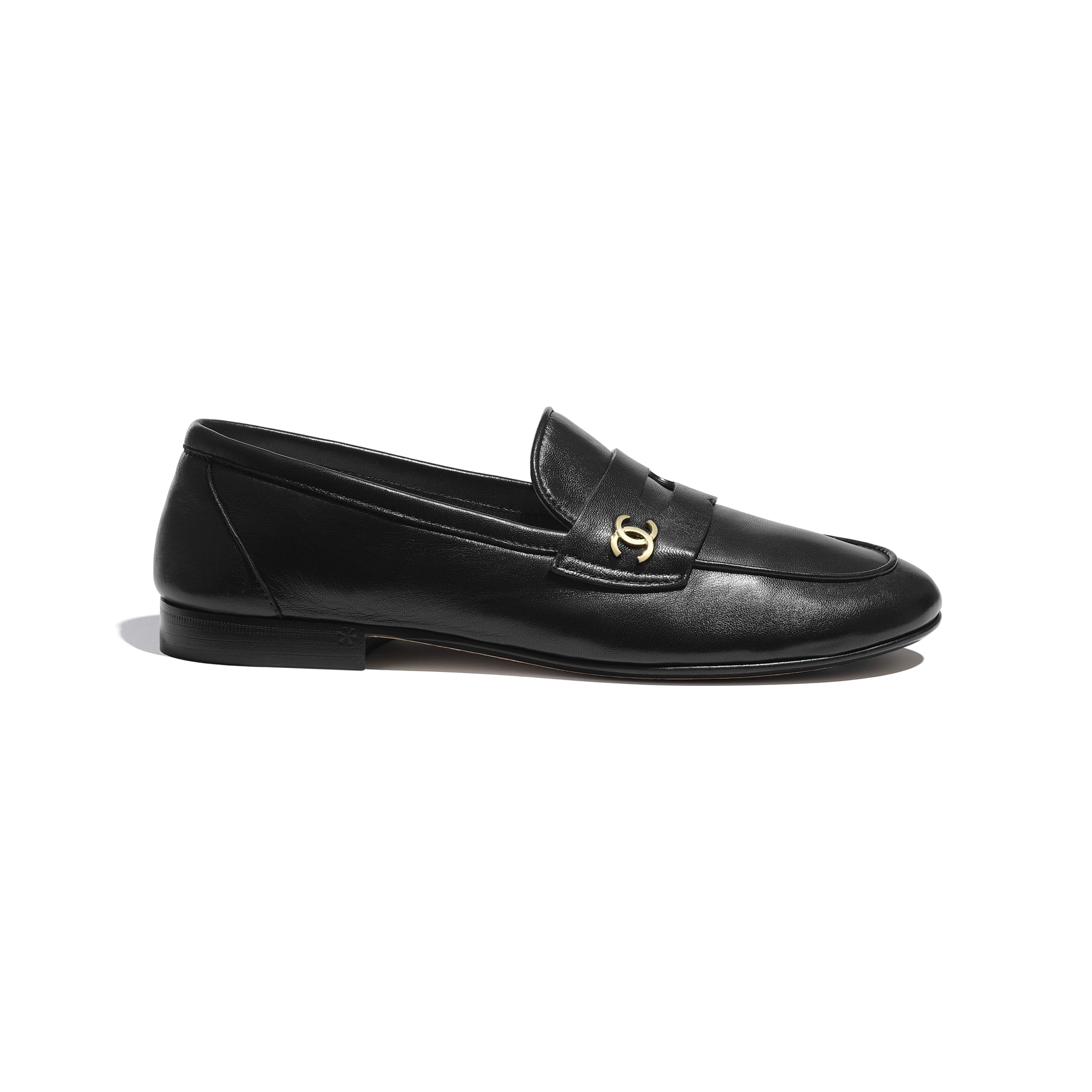 Loafers - Black - Lambskin - CHANEL - Default view - see standard sized version