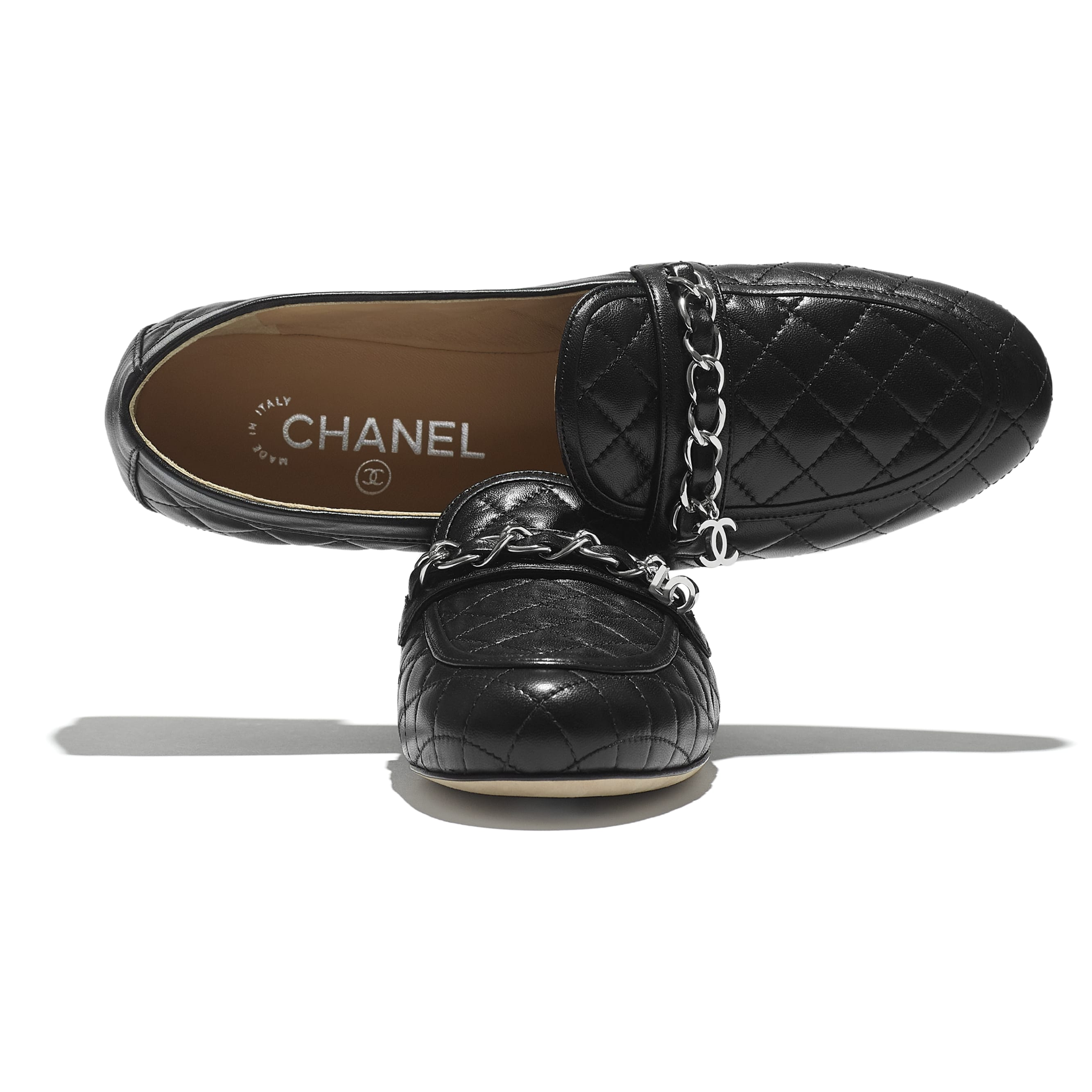 Loafers - Black - Lambskin - CHANEL - Extra view - see standard sized version