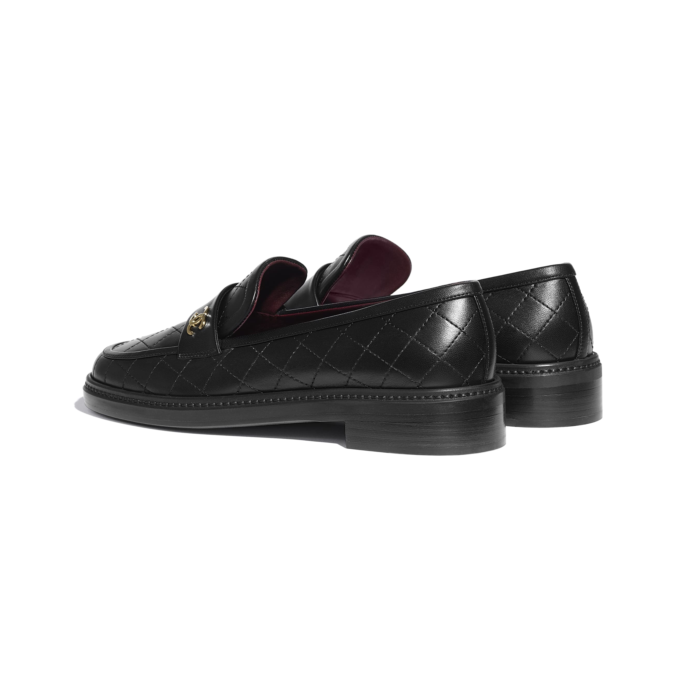 Loafers - Black - Lambskin - CHANEL - Other view - see standard sized version