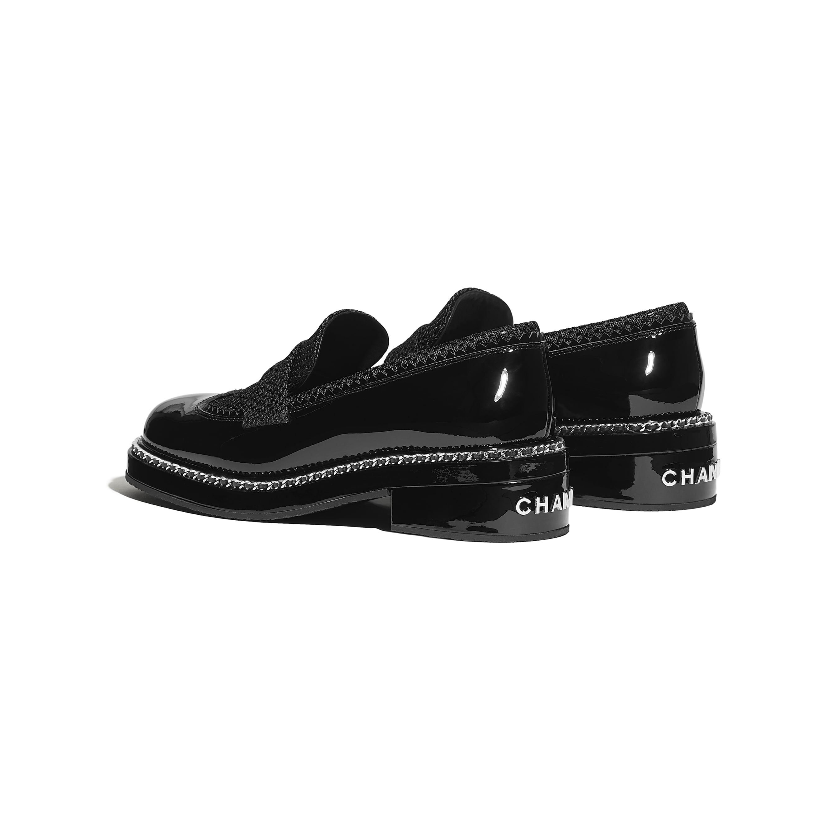 Loafers - Black - Patent Calfskin & Mixed Fibers - Other view - see standard sized version