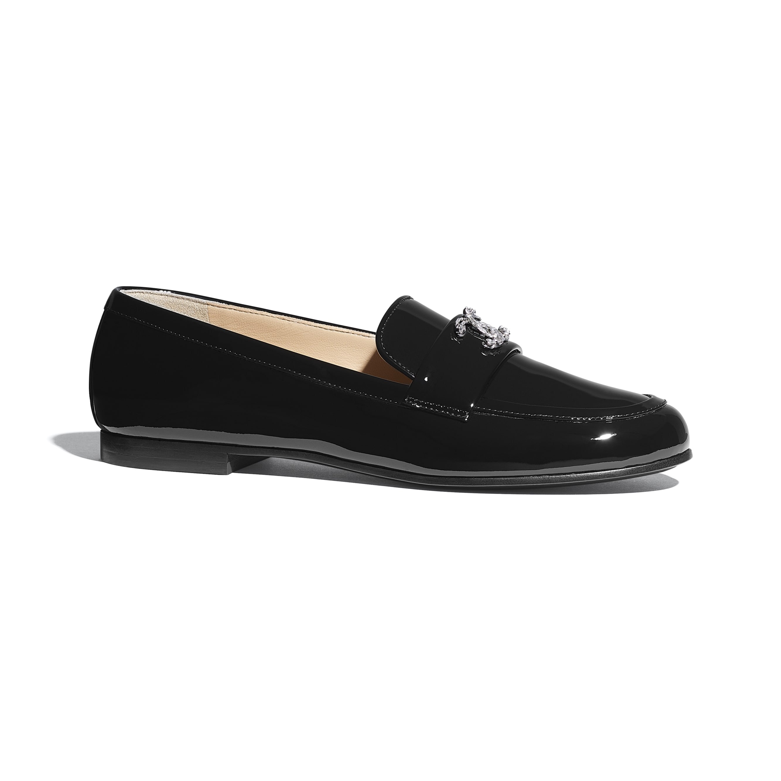 Loafers - Black - Patent Calfskin - CHANEL - Default view - see standard sized version