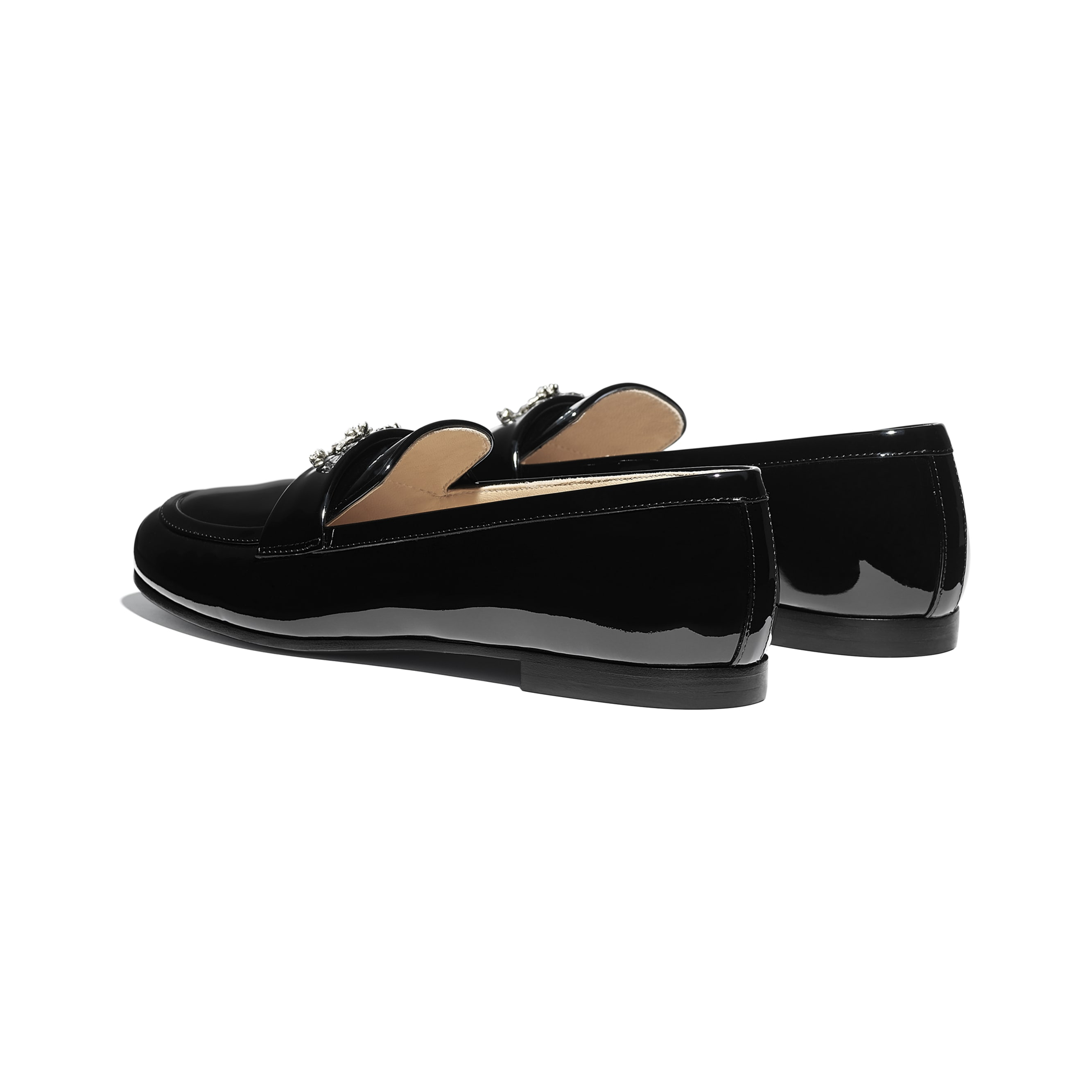 Loafers - Black - Patent Calfskin - CHANEL - Other view - see standard sized version