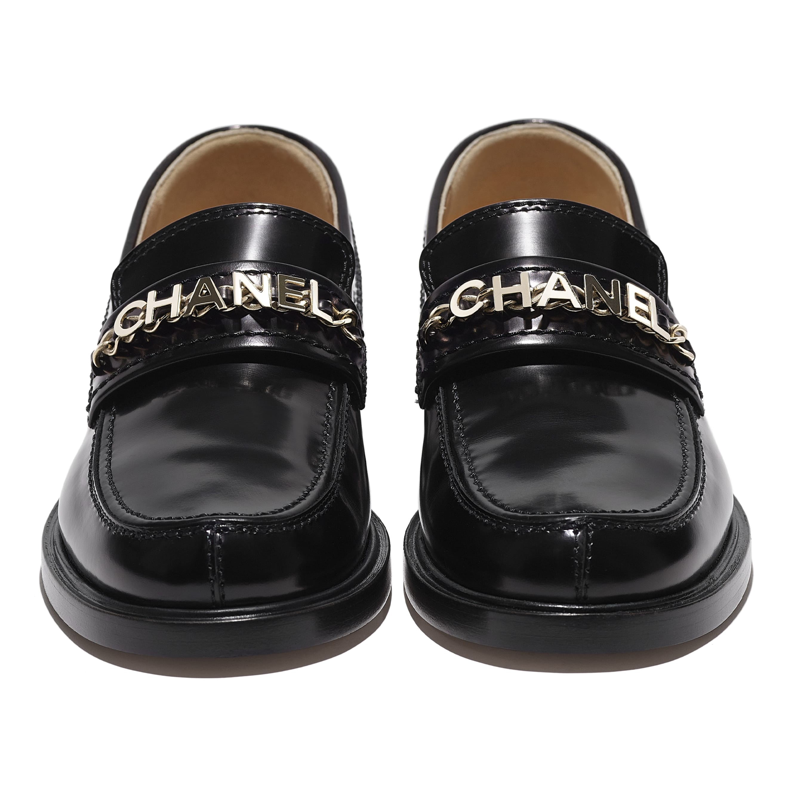Loafers - Black - Shiny Calfskin - CHANEL - Extra view - see standard sized version