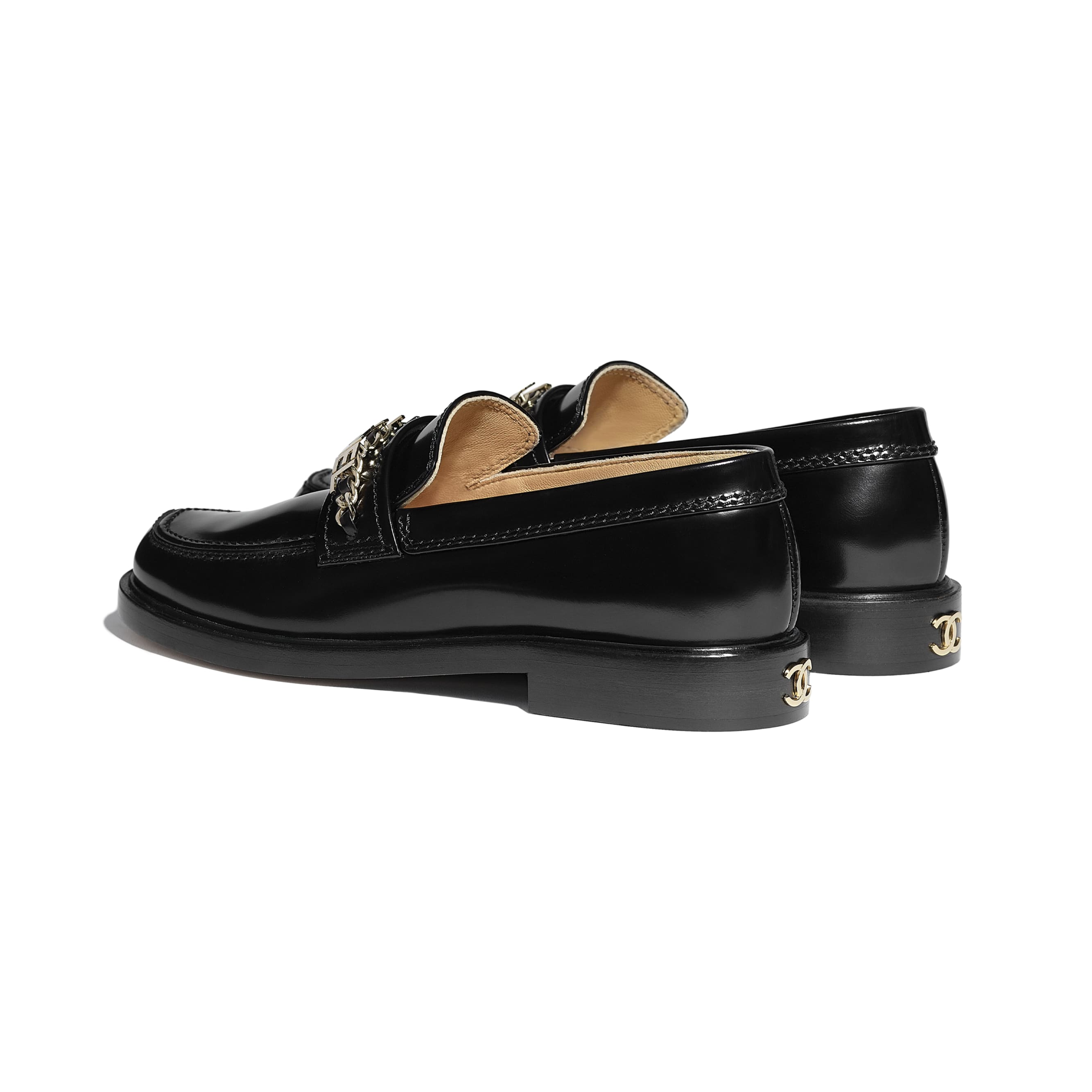 Loafers - Black - Shiny Calfskin - CHANEL - Other view - see standard sized version