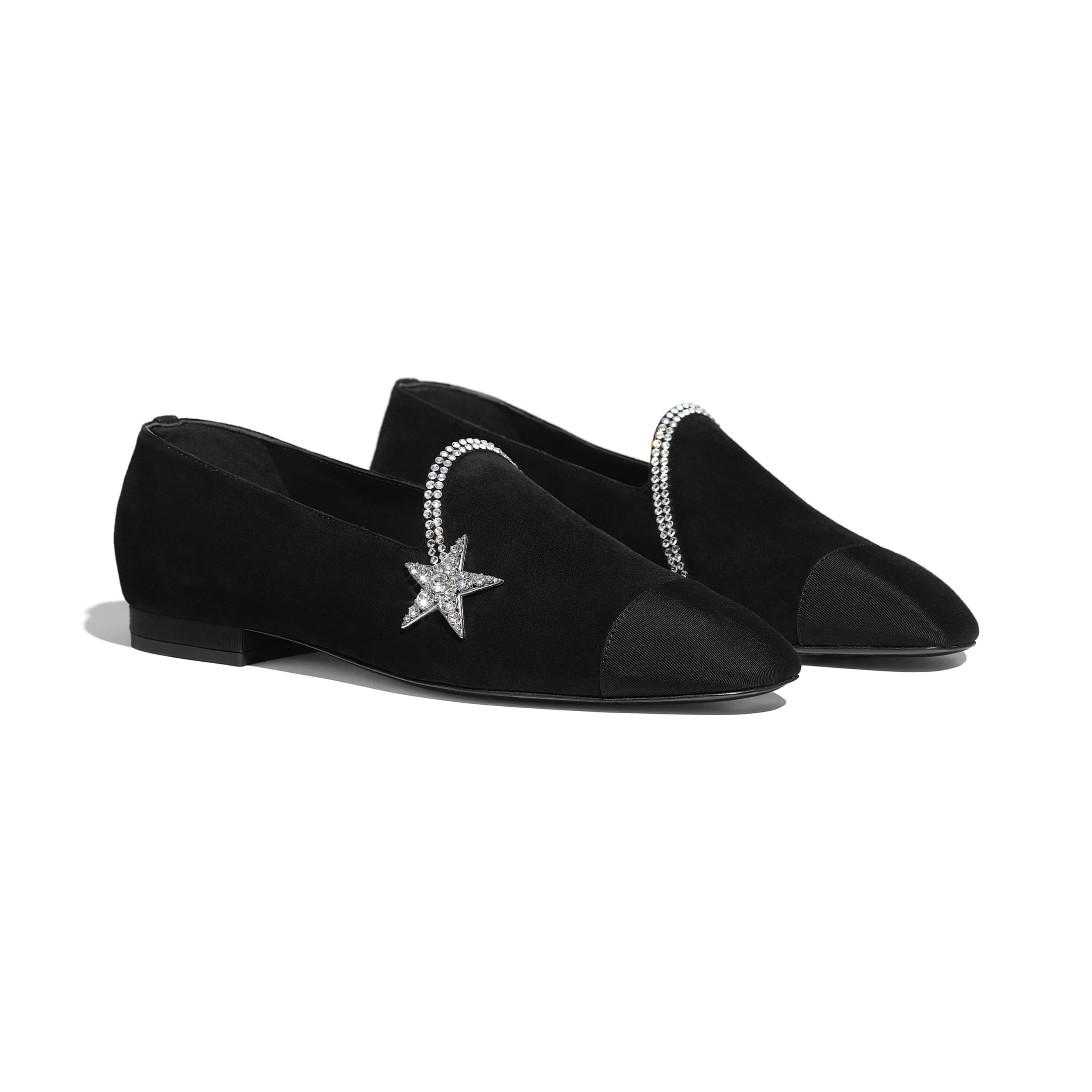 Loafers - Black - Suede Calfskin & Grosgrain - Alternative view - see standard sized version