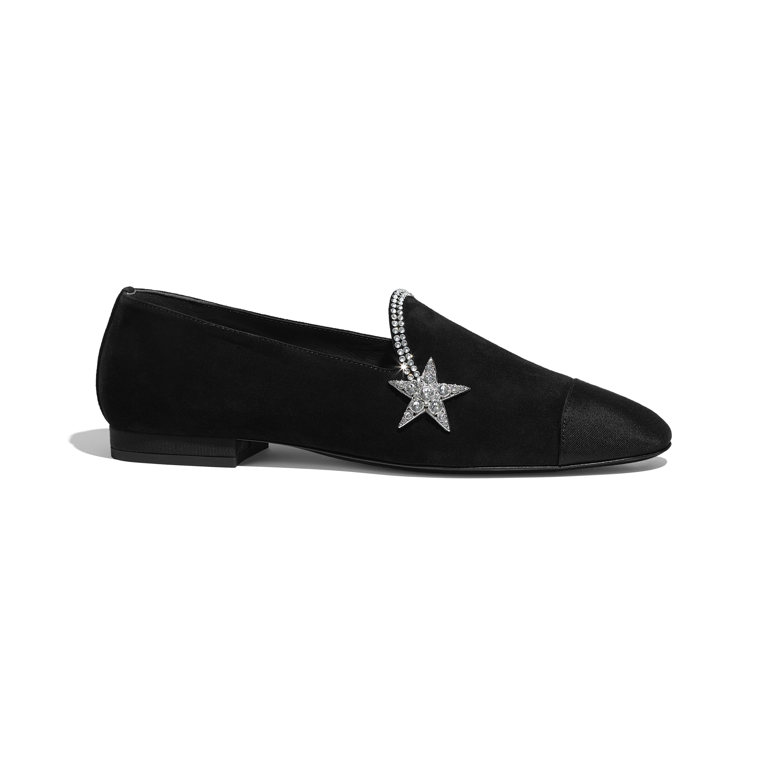 Loafers - Black - Suede Calfskin & Grosgrain - Default view - see standard sized version