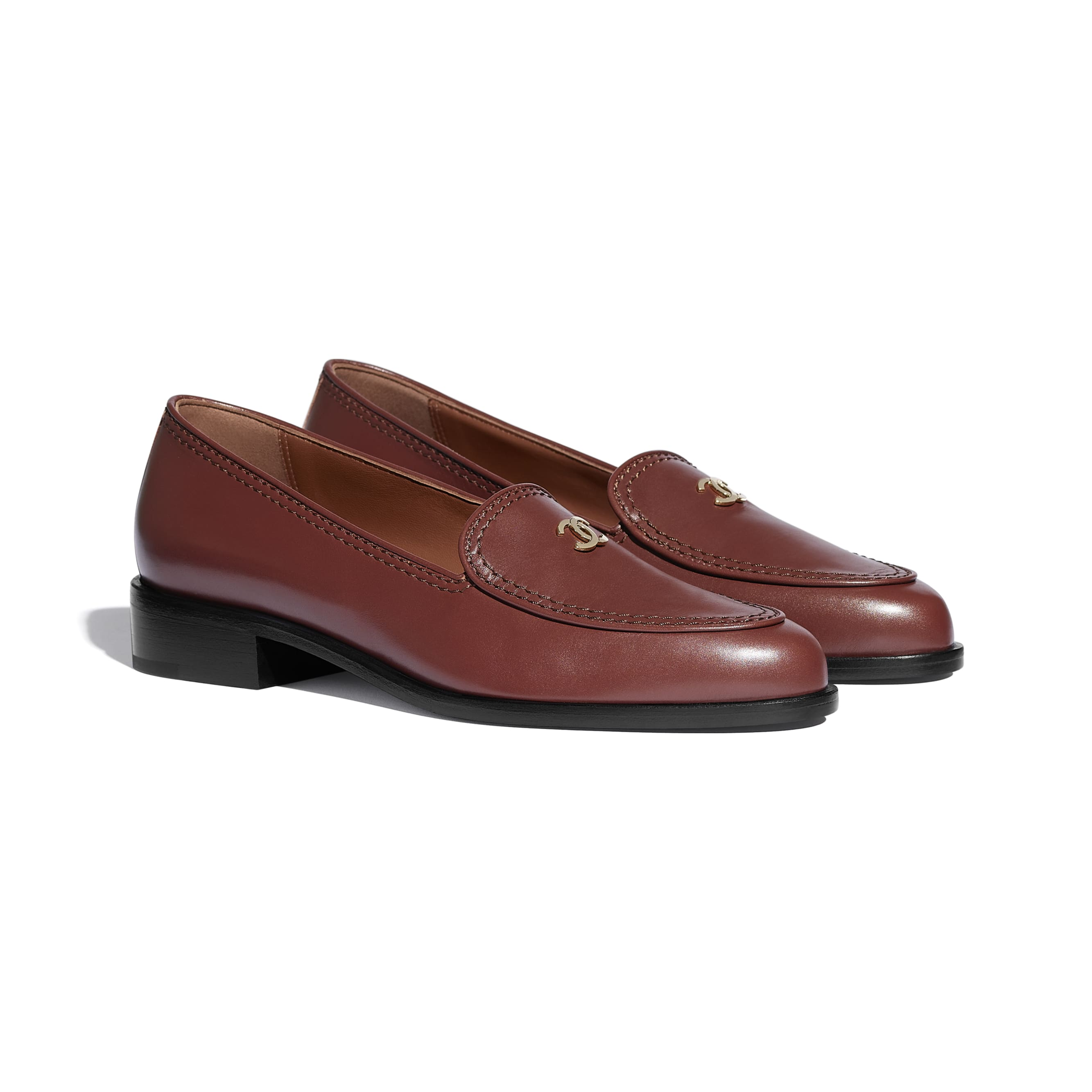 Loafers - Brown - Calfskin - CHANEL - Alternative view - see standard sized version