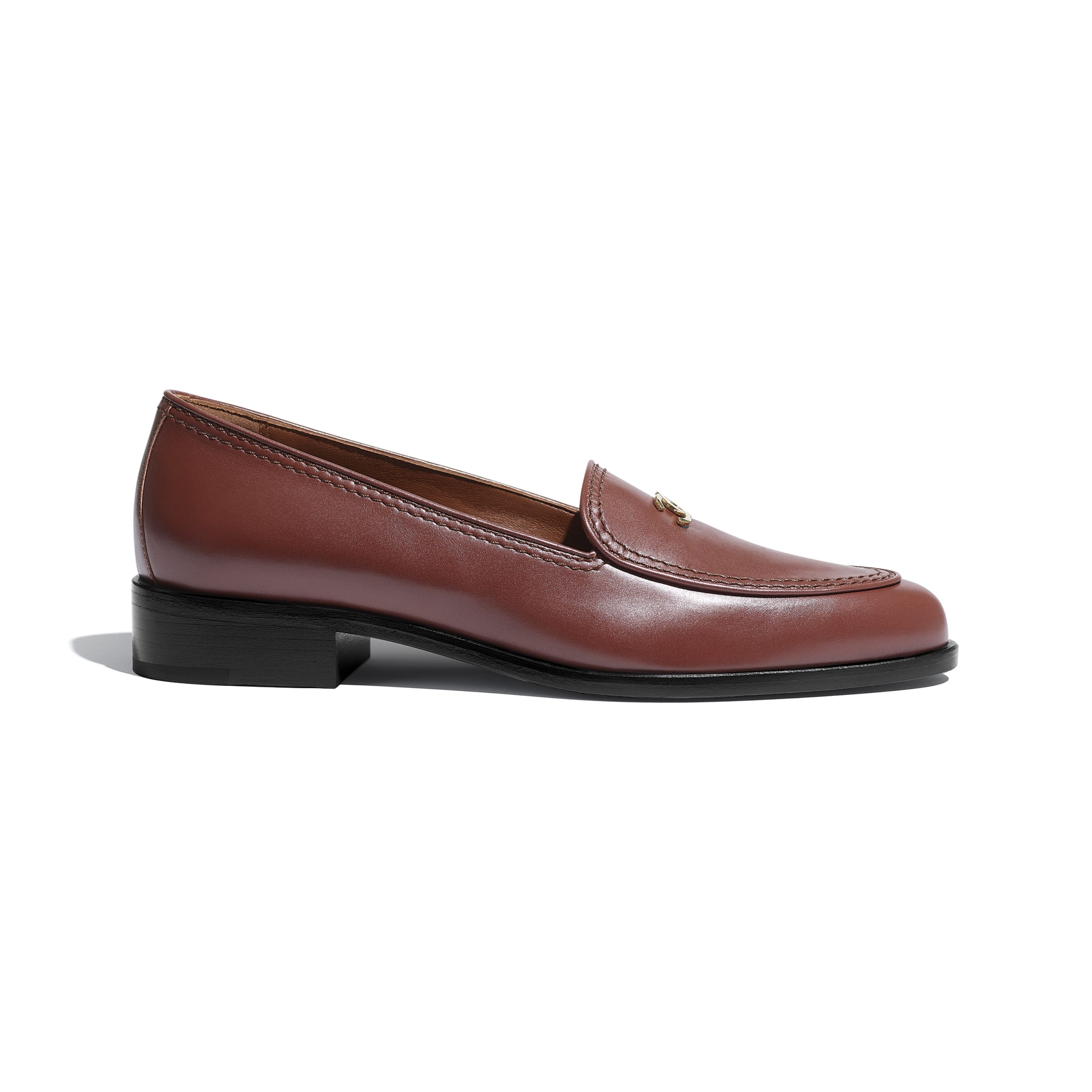 Loafers - Brown - Calfskin - CHANEL - Default view - see standard sized version