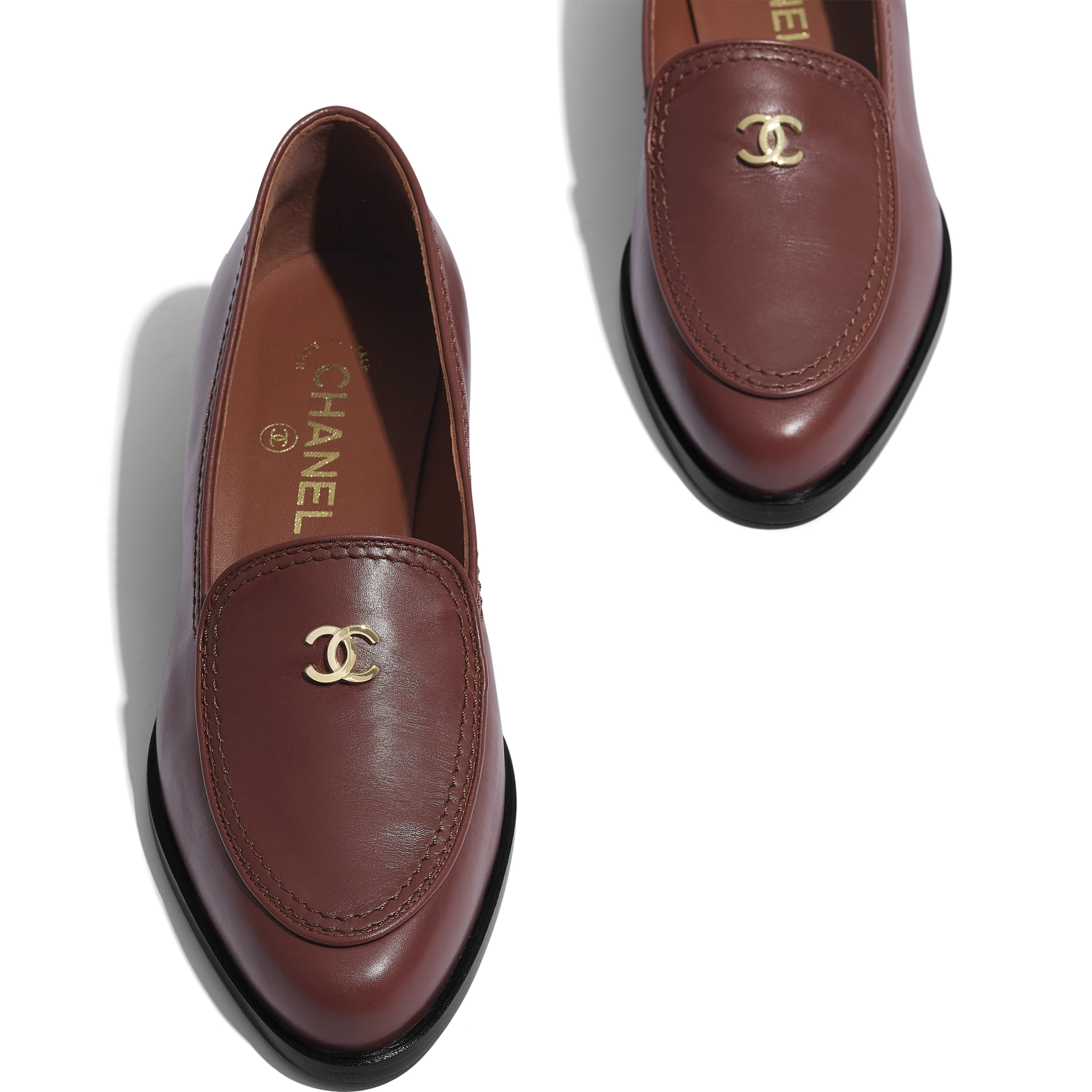 Loafers - Brown - Calfskin - CHANEL - Extra view - see standard sized version