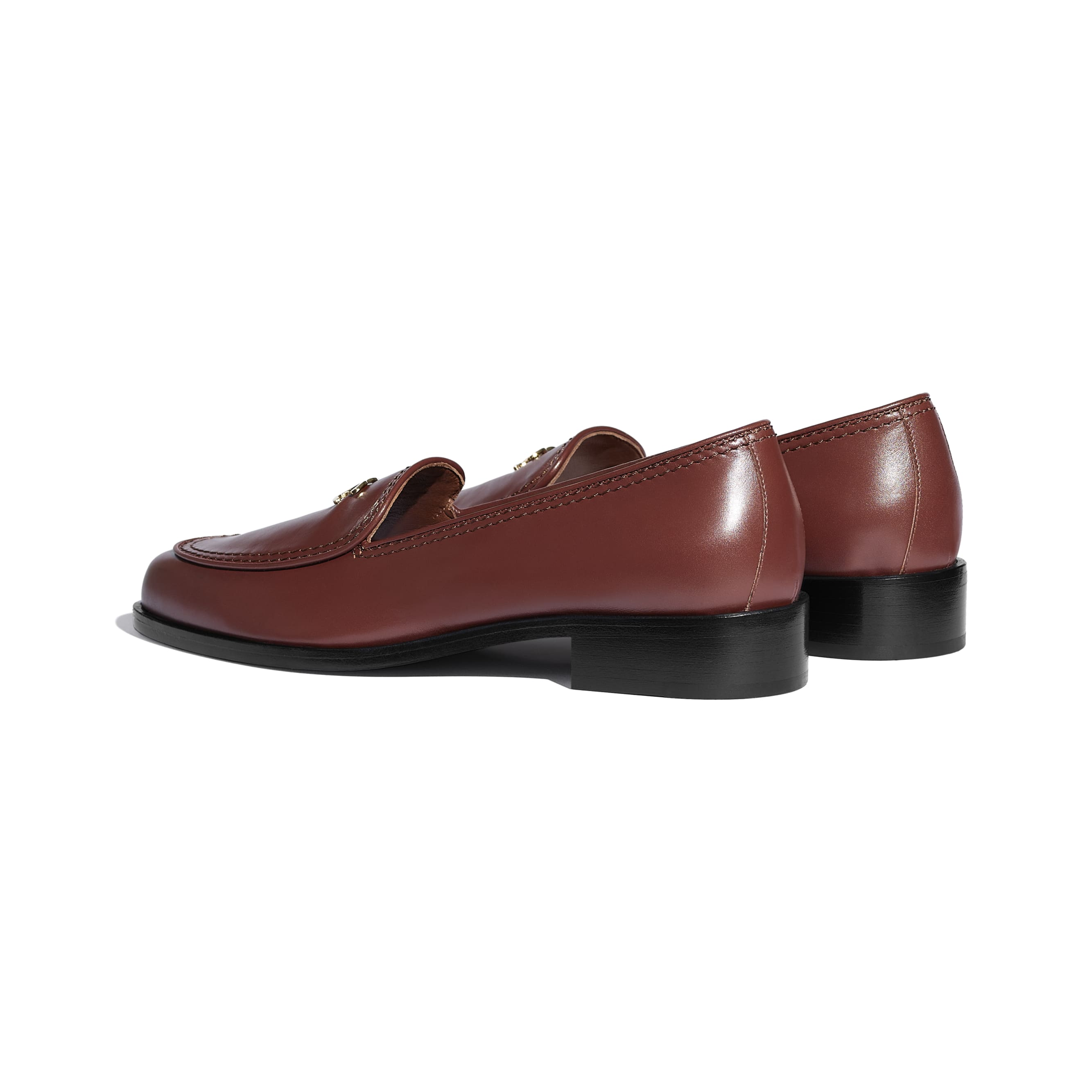 Loafers - Brown - Calfskin - CHANEL - Other view - see standard sized version