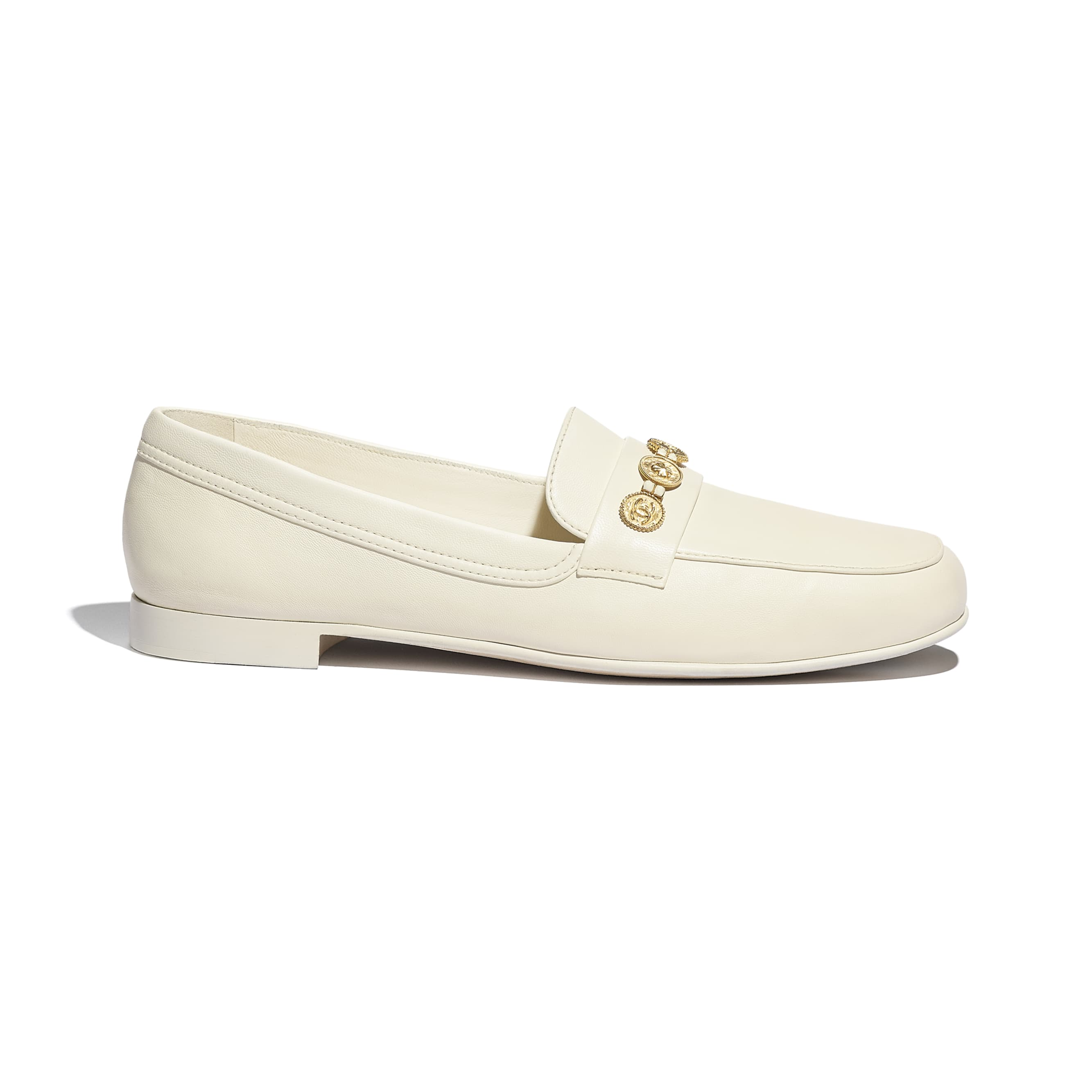 Loafers - Ivory - Lambskin - CHANEL - Default view - see standard sized version