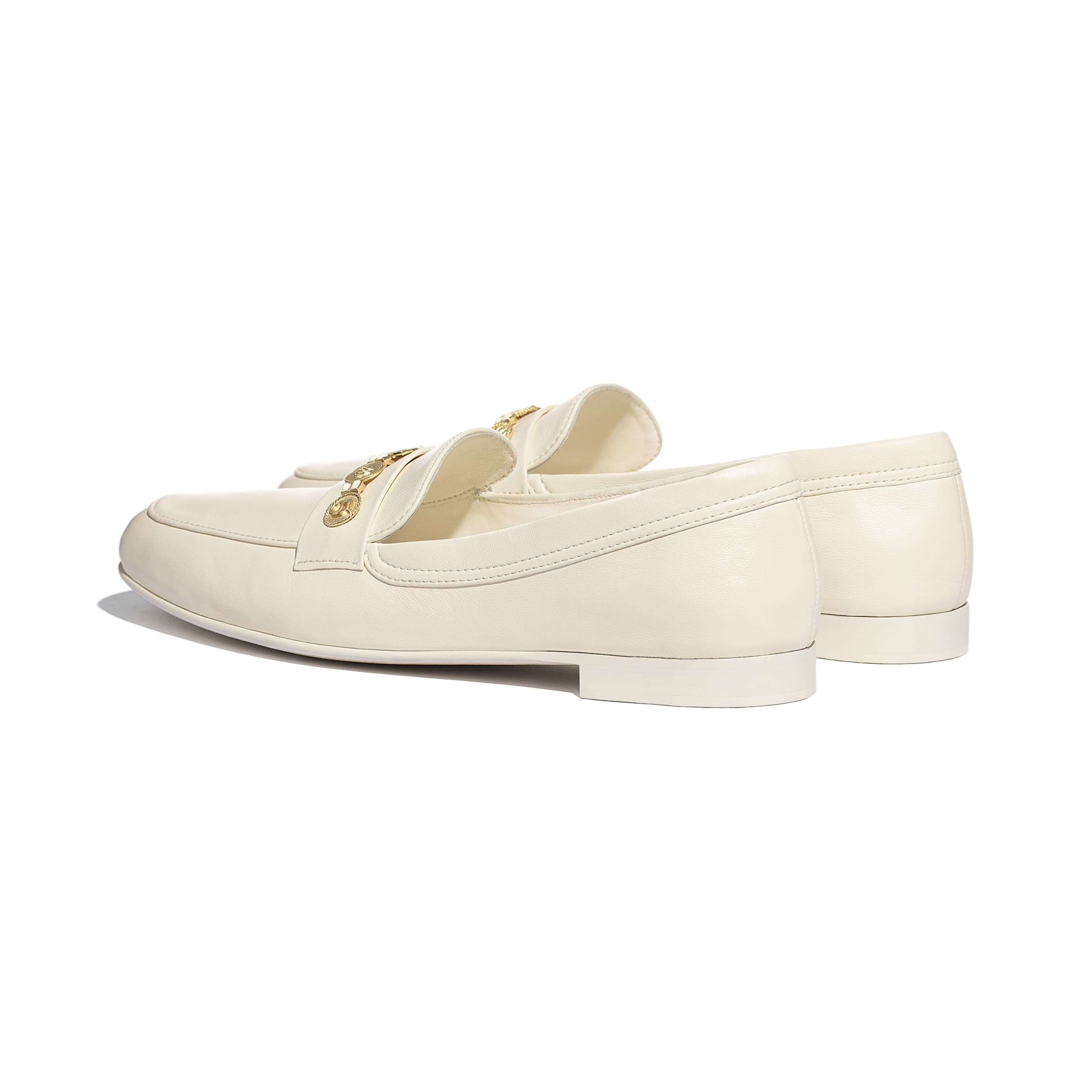 Loafers - Ivory - Lambskin - CHANEL - Other view - see standard sized version