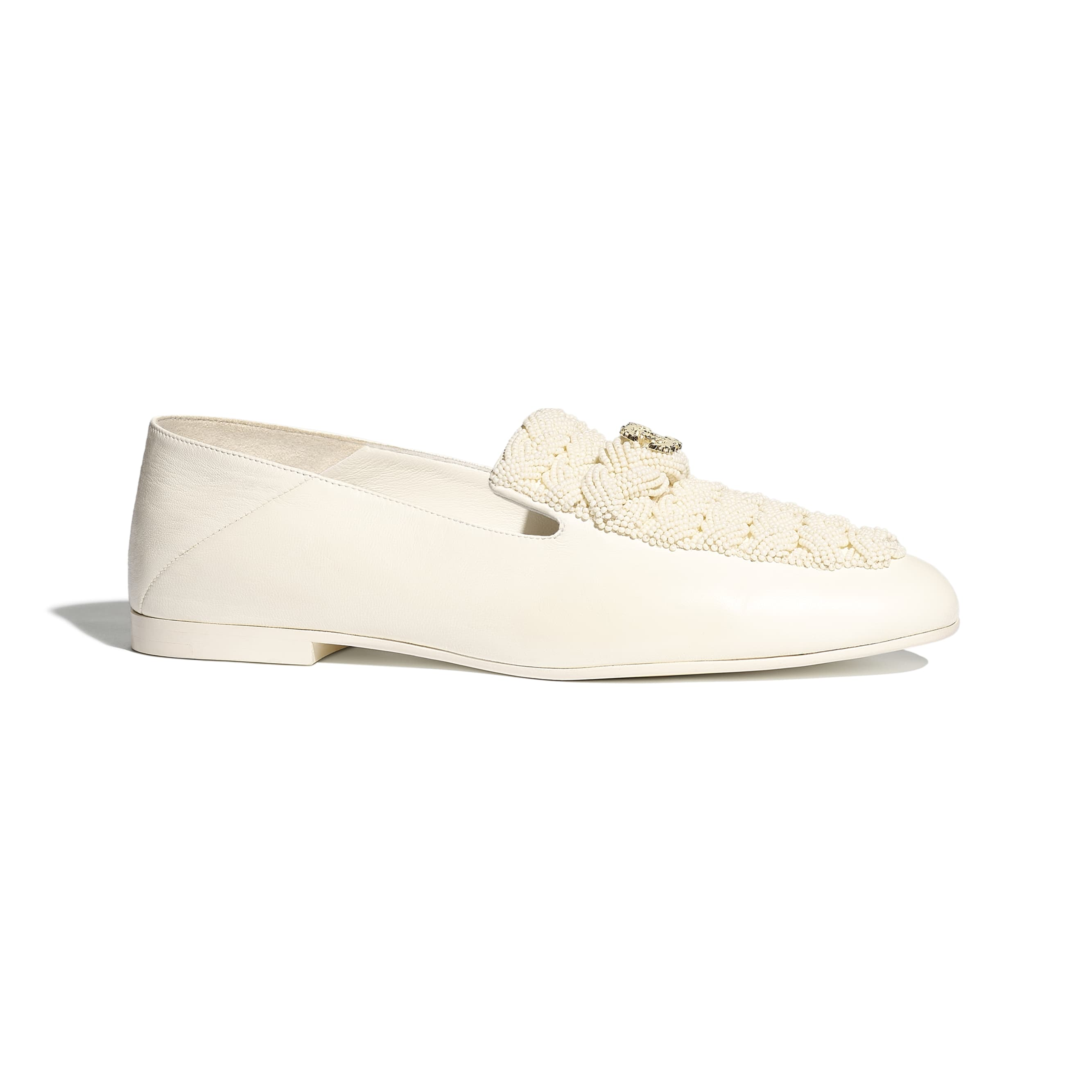 Loafers - Ivory - Pearls & Lambskin - Default view - see standard sized version