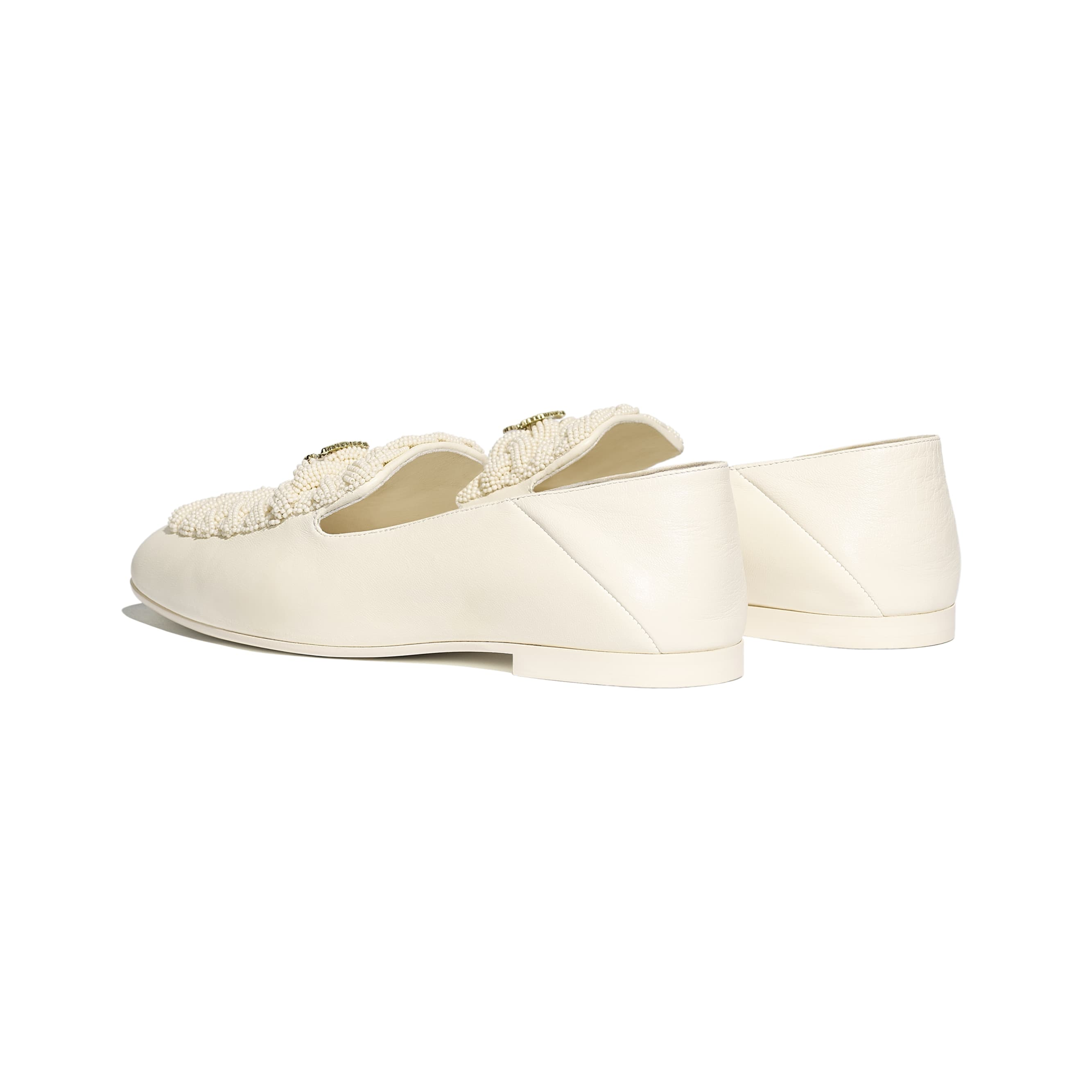 Loafers - Ivory - Pearls & Lambskin - Other view - see standard sized version