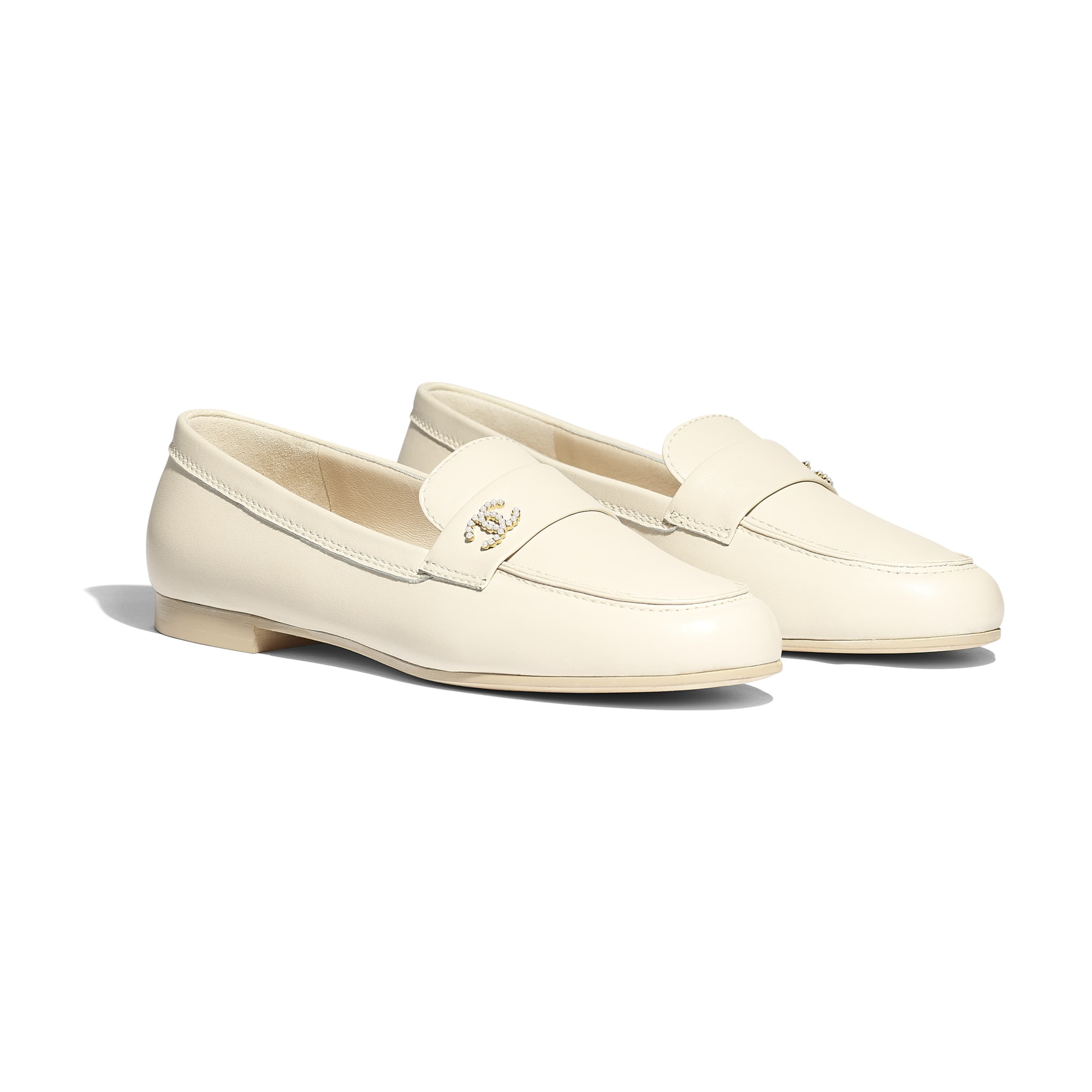 Loafers - Light Beige - Lambskin - Alternative view - see standard sized version