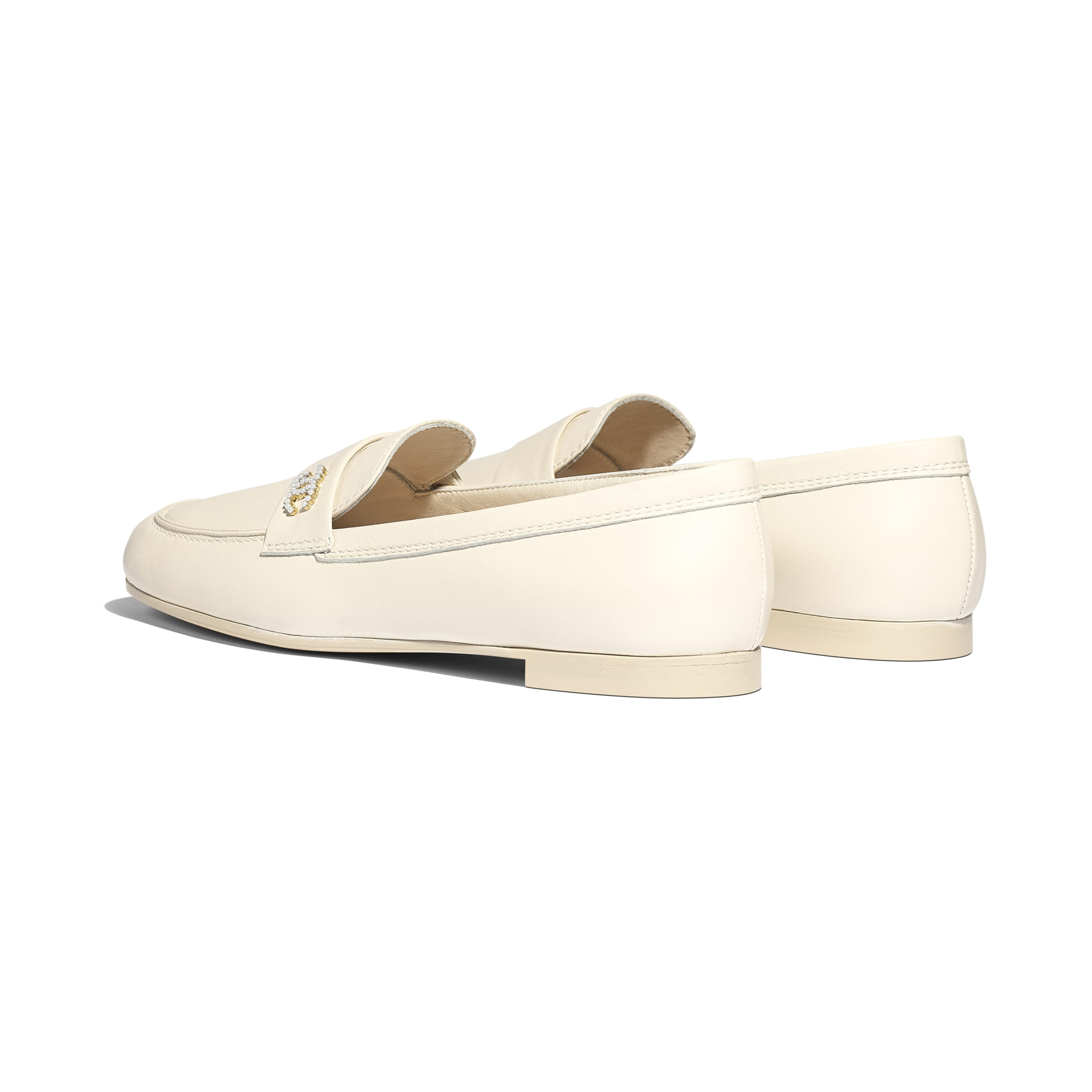 Loafers - Light Beige - Lambskin - Other view - see standard sized version